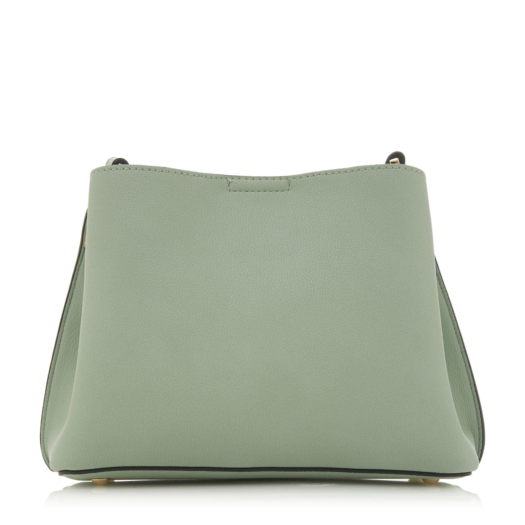 Dune Light Green 'dinidarrow' Textured Small Cross-body Bag