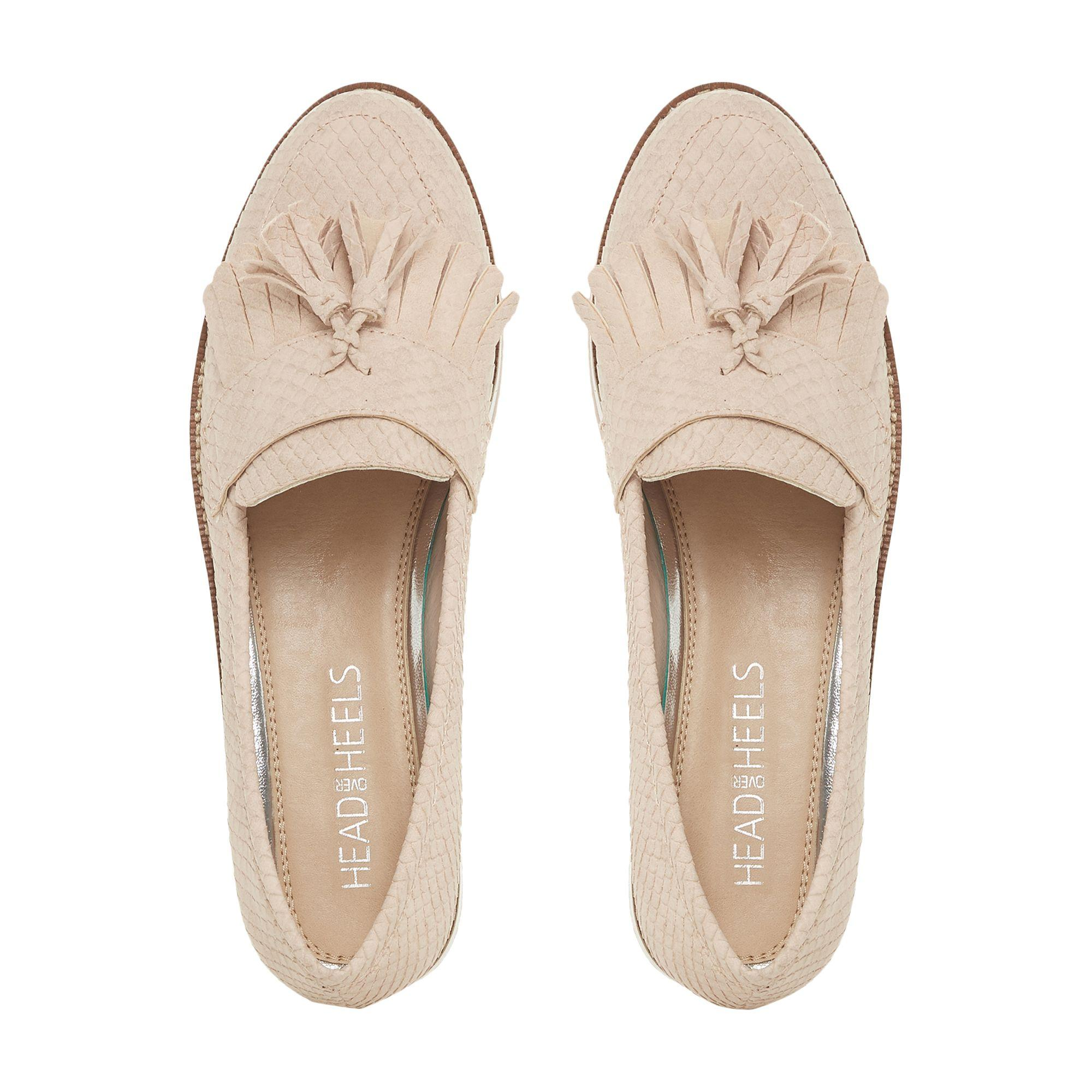 22077fd6785 Dune - Natural  gillys  Mid Wedge Heel Loafers - Lyst. View fullscreen