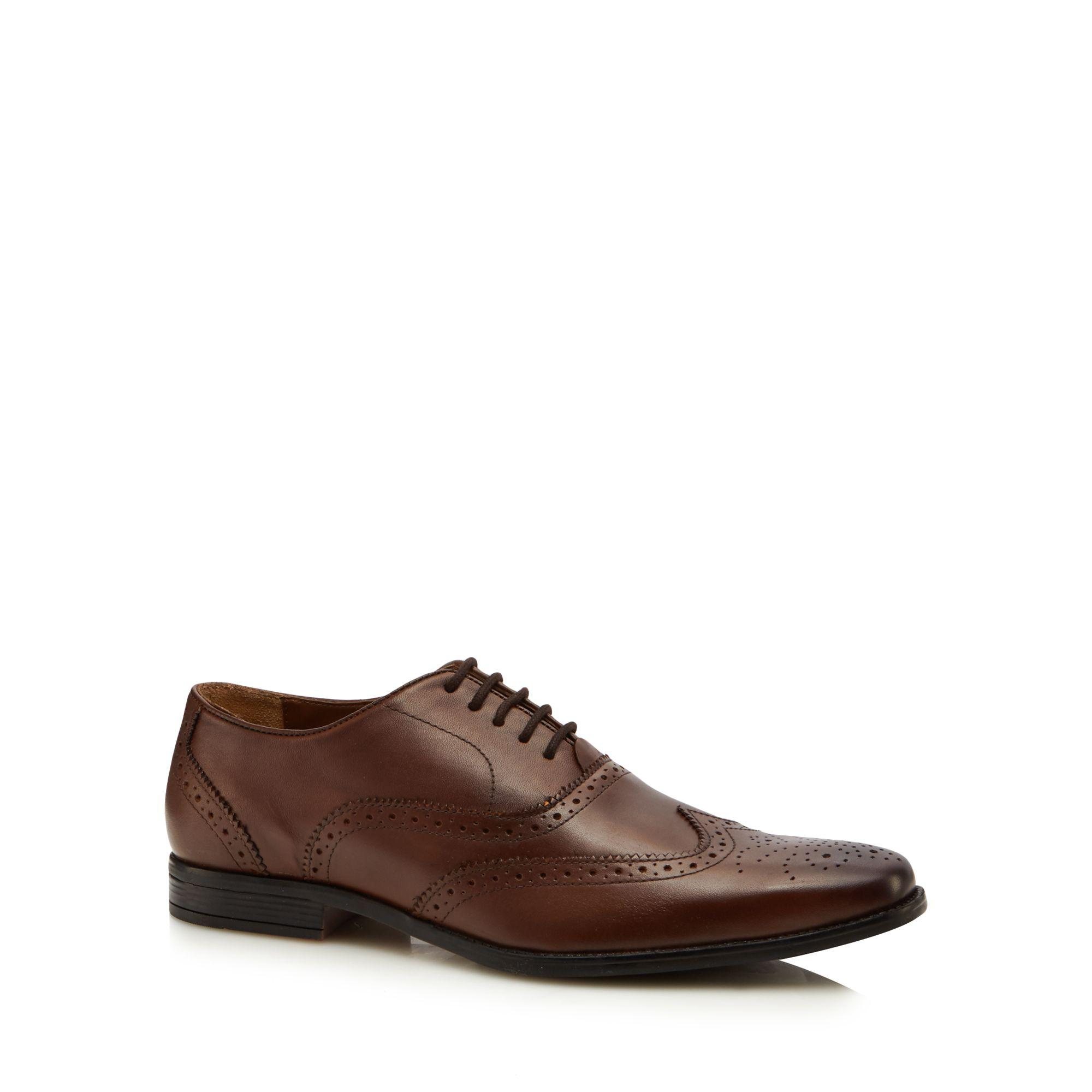 Brown leather 'Bishop' Derby shoes outlet for sale discount price xSp3rWG7
