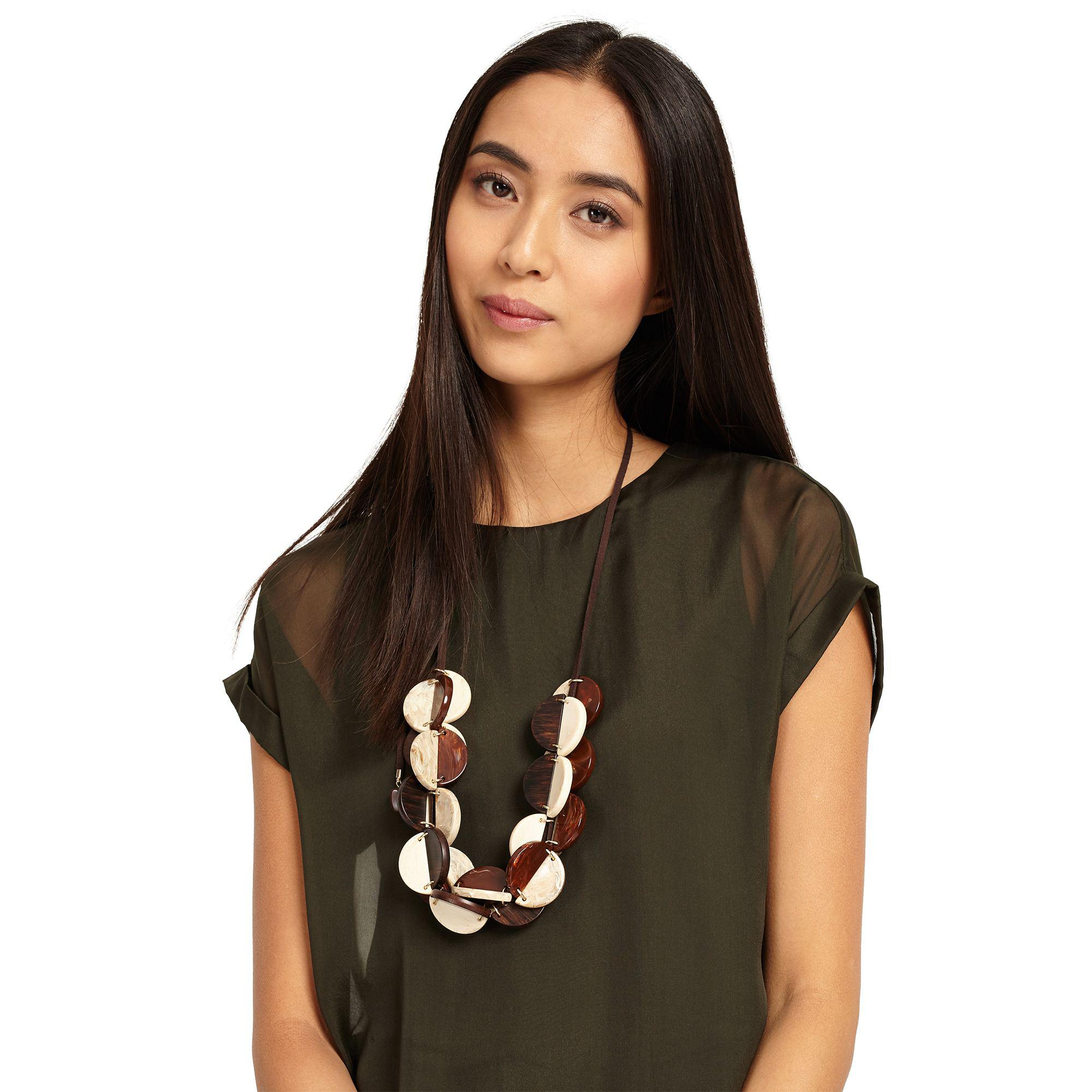 Phase Eight Chocolate Lottie Necklace in Brown