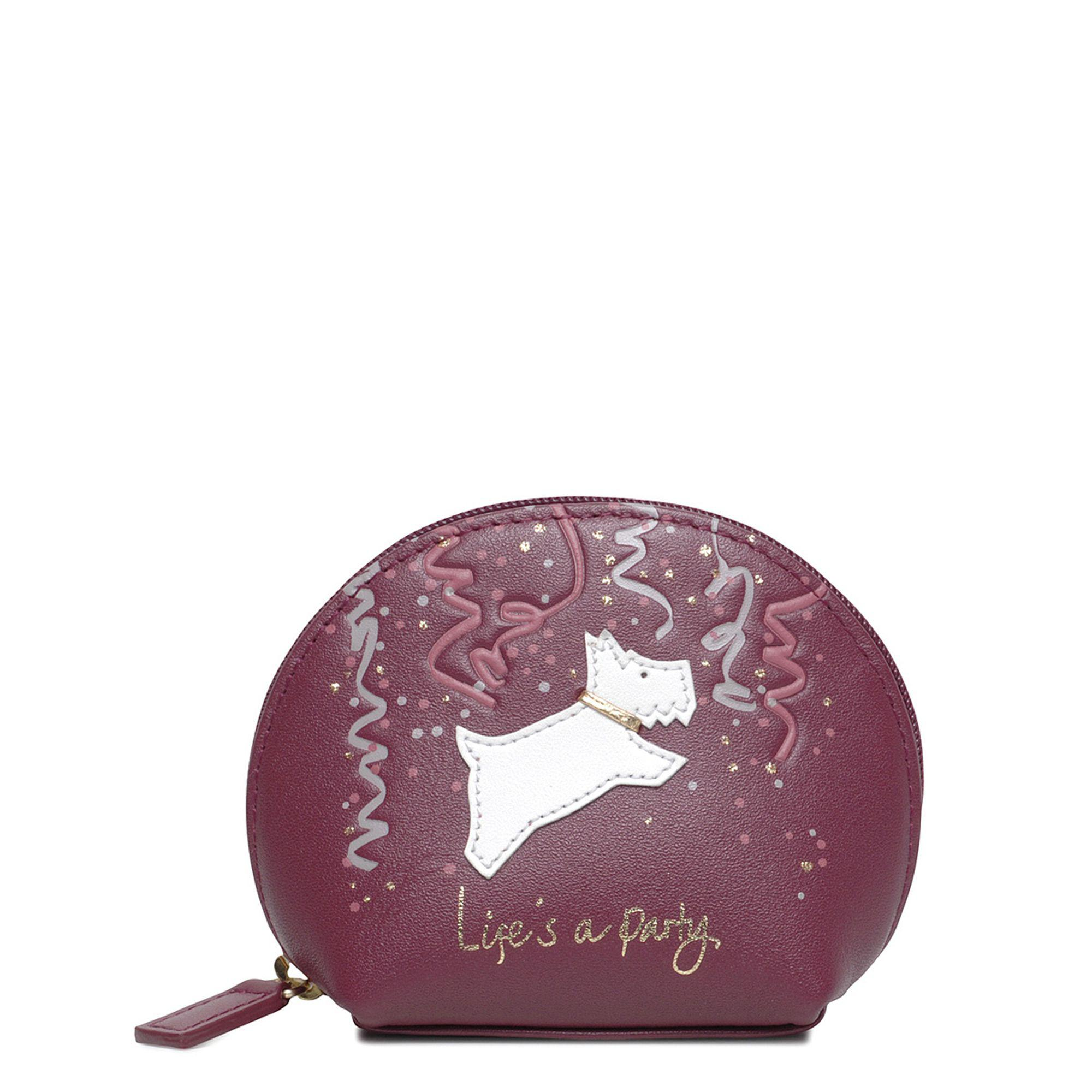 913270b18aee88 Radley Small Leather 'life's A Party' Zip Top Coin Purse in Purple ...