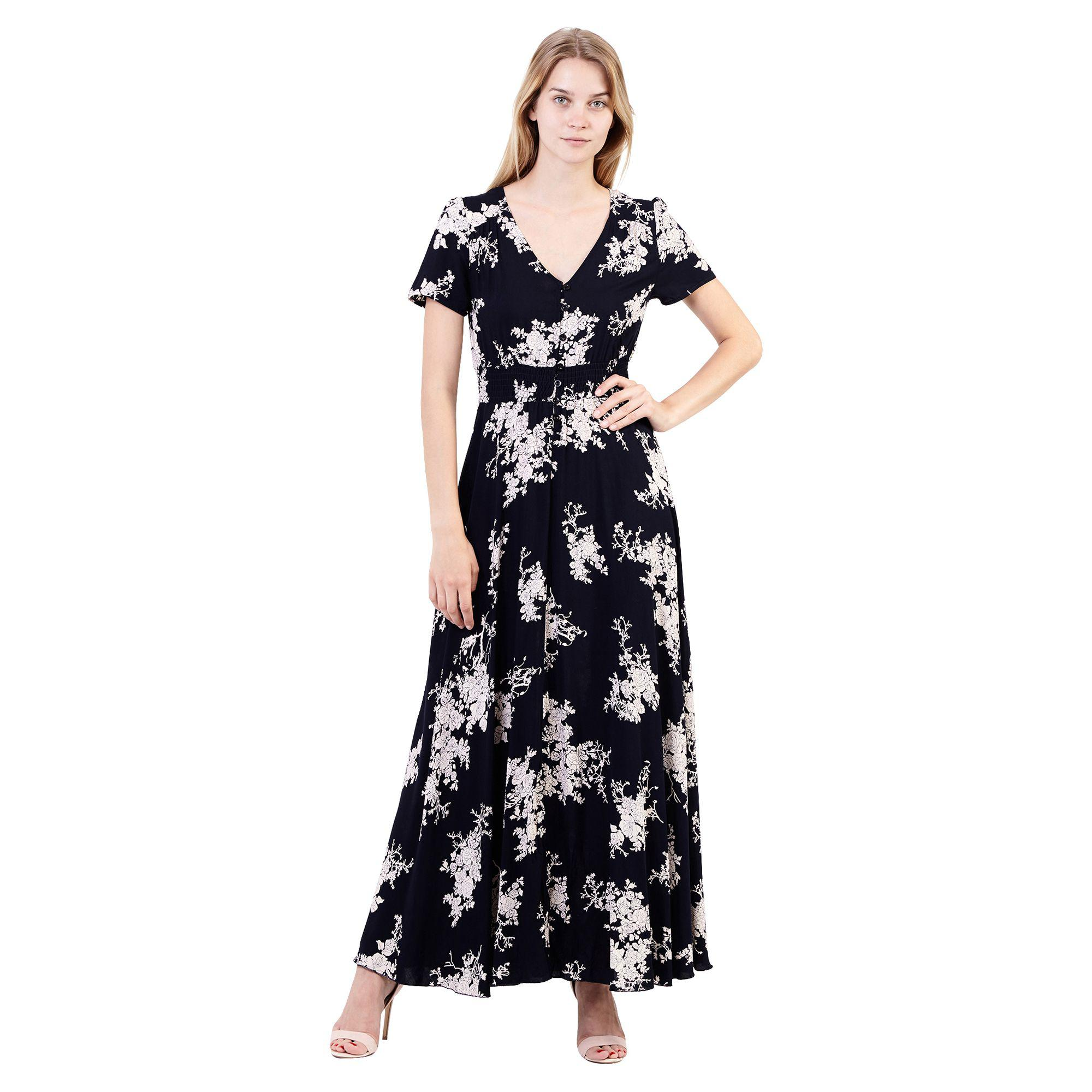 a5210c6fe60 Izabel London Blue Floral Maxi Dress in Blue - Lyst