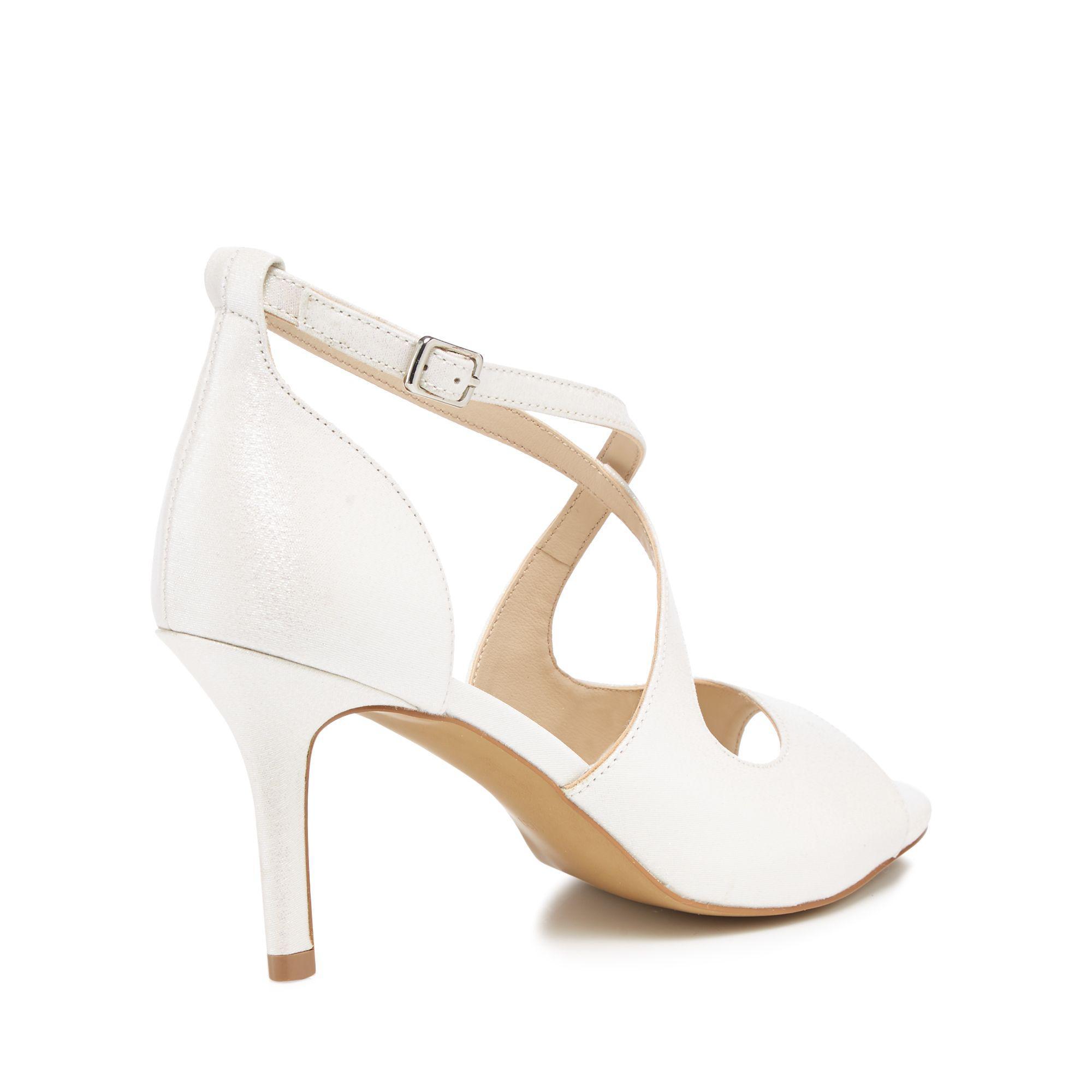 Ivory 'Deja' high stiletto heel peep toe sandals cheap sale big discount CqBKc29y1