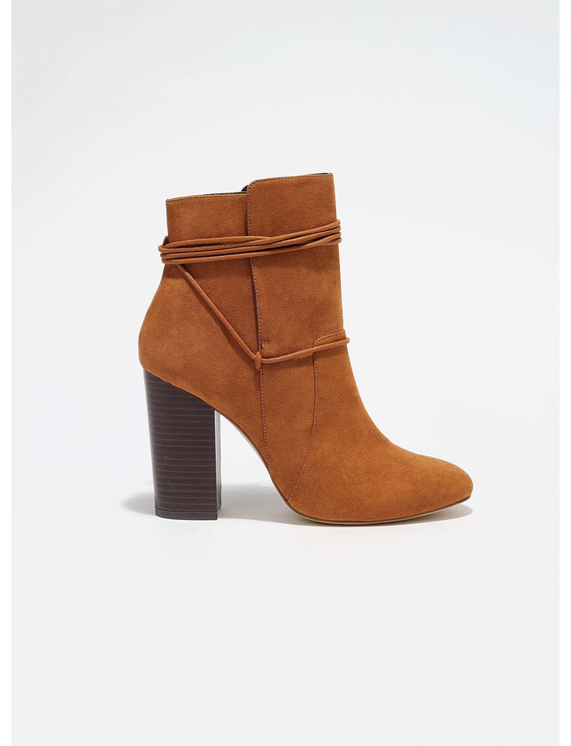 Miss Selfridge Synthetic Tan Arial Wrap Ankle Boots in Brown