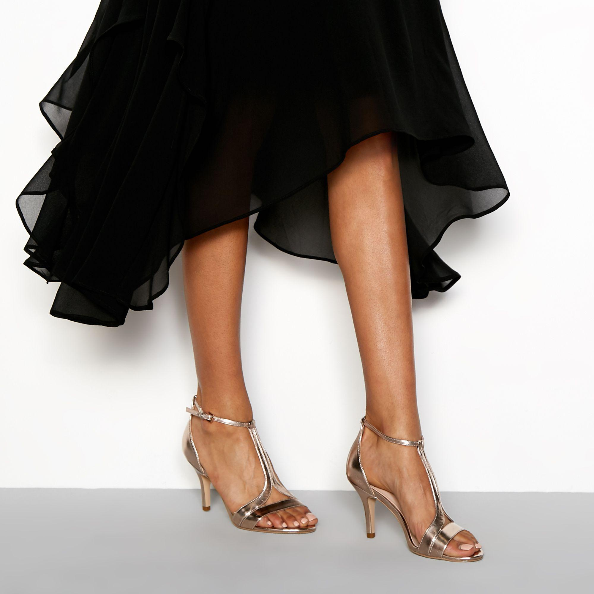 c3aff9acb Faith Rose  donna  T-bar Stiletto Heels Sandals - Lyst