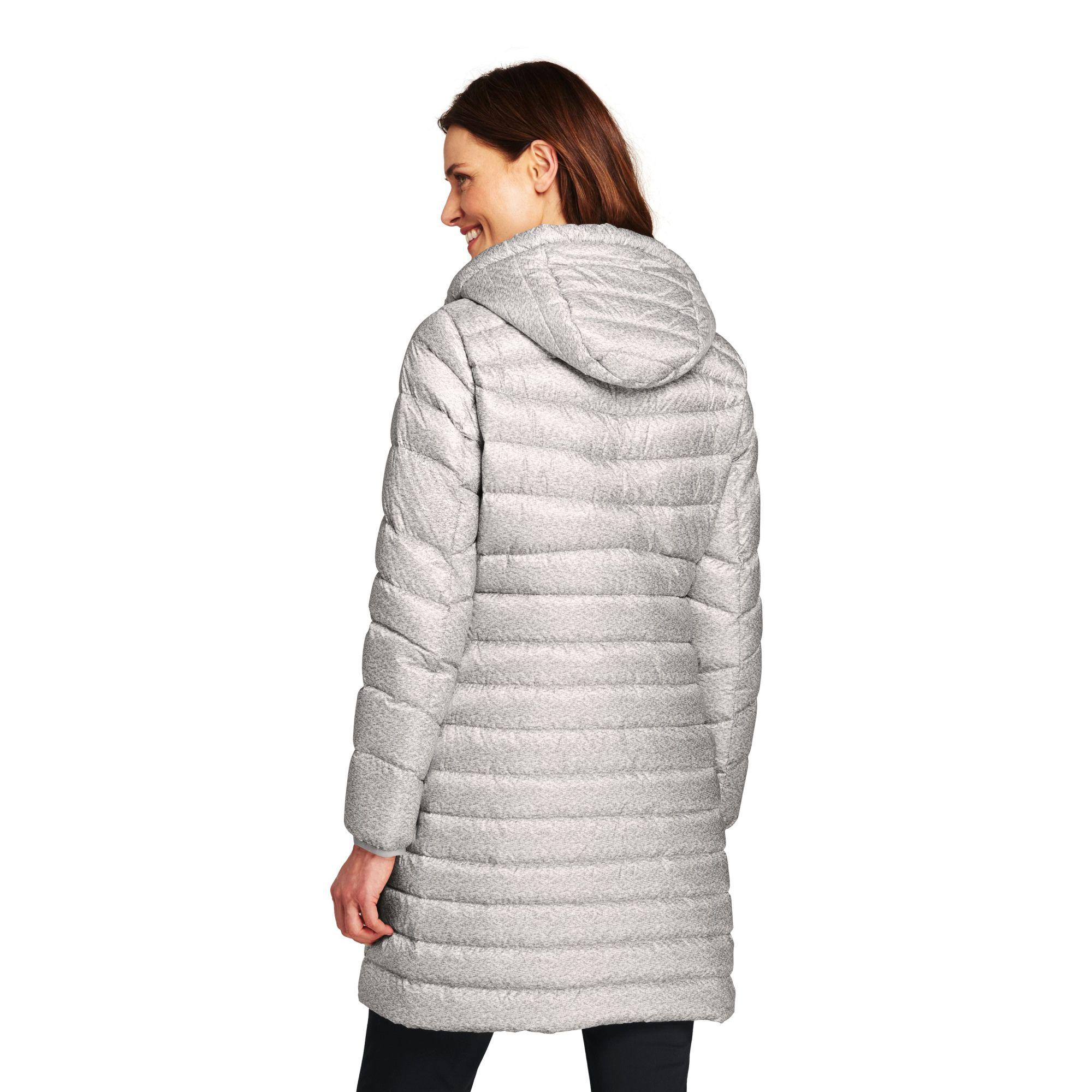 1361d6a50285 ... Petite Patterned Ultra Light Packable Down Coat - Lyst. View fullscreen