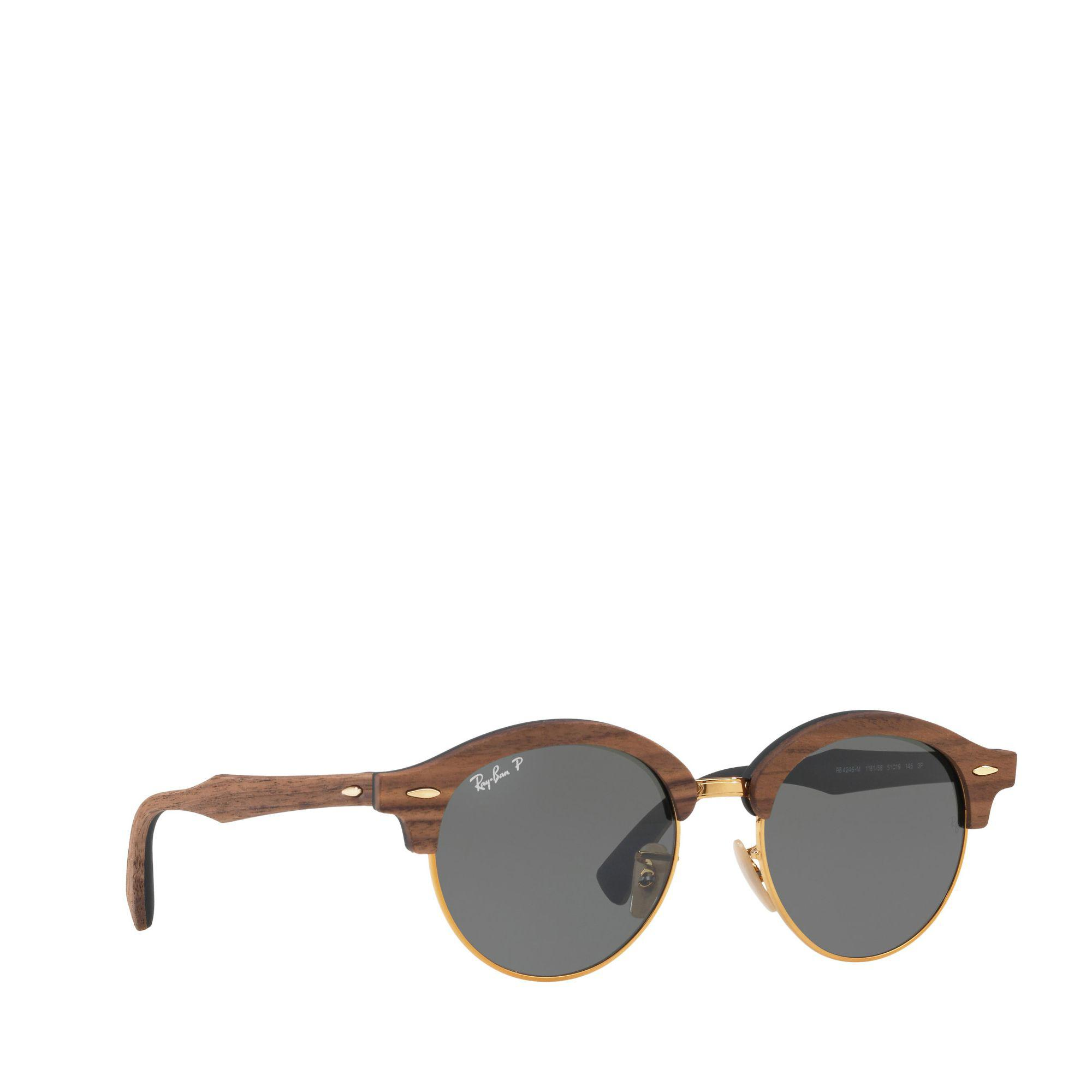 21b9c9bad6 ... promo code ray ban gold rb4246m round sunglasses in brown for men lyst  69b6e 366a4