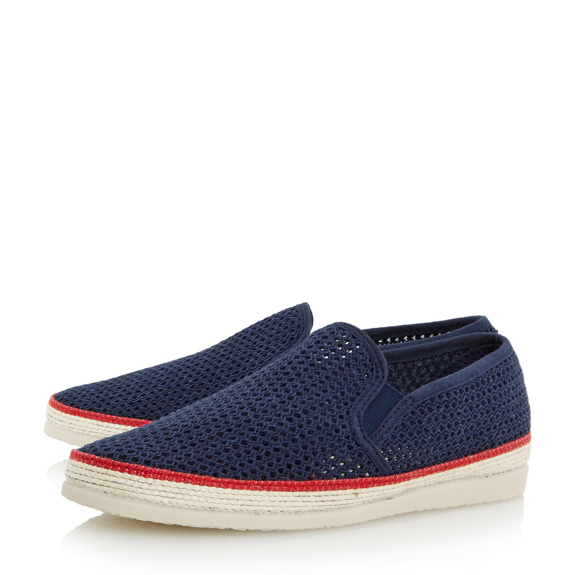 663ef353b Bertie - Blue Navy 'fresh' Mesh Detail Espadrille Shoe for Men - Lyst. View  fullscreen