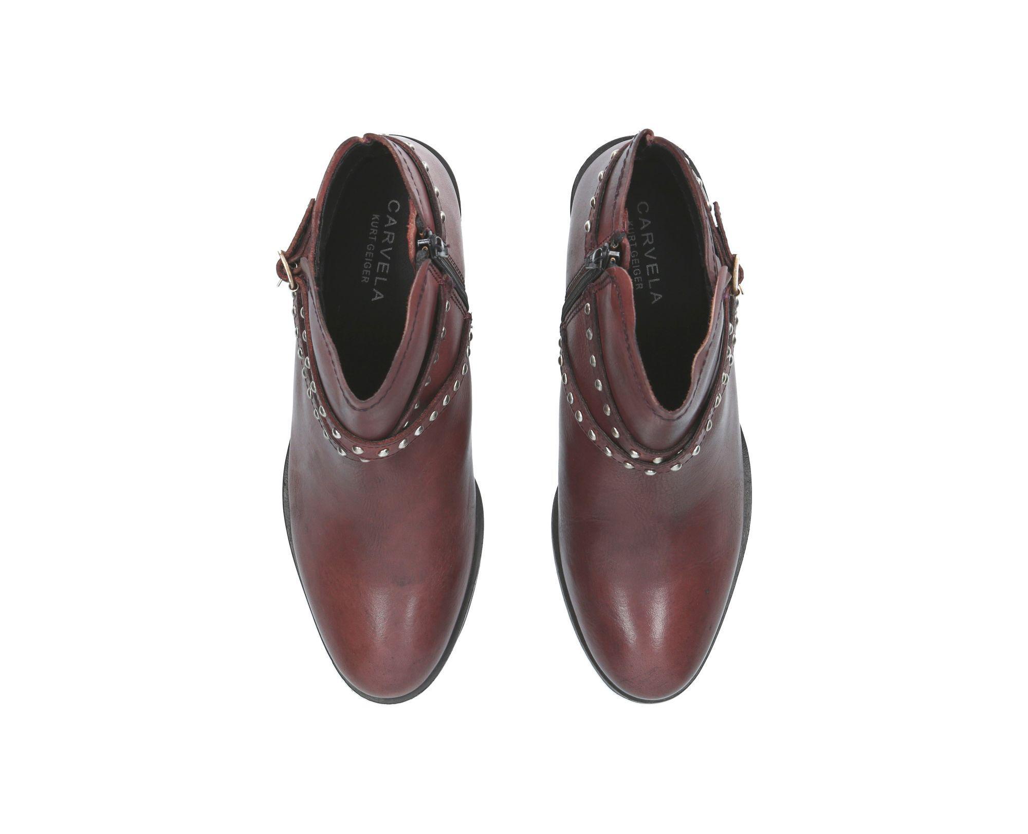 Carvela Kurt Geiger 'steel' Flat Ankle Boots in Red