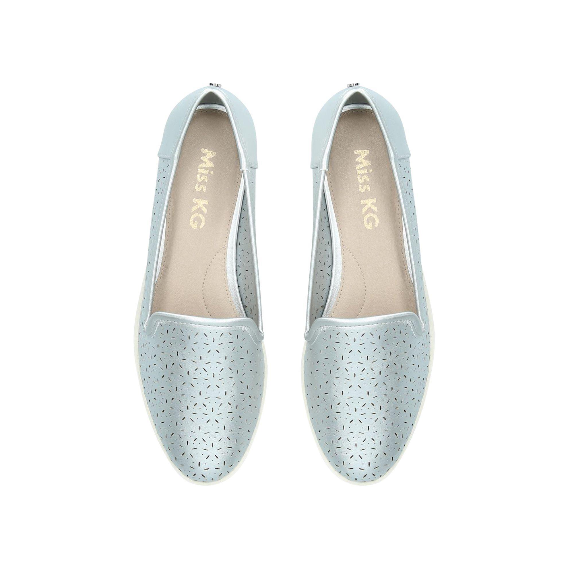 7e0aca1cd Miss Kg - Metallic  nora  Silver Flat Shoes - Lyst. View fullscreen