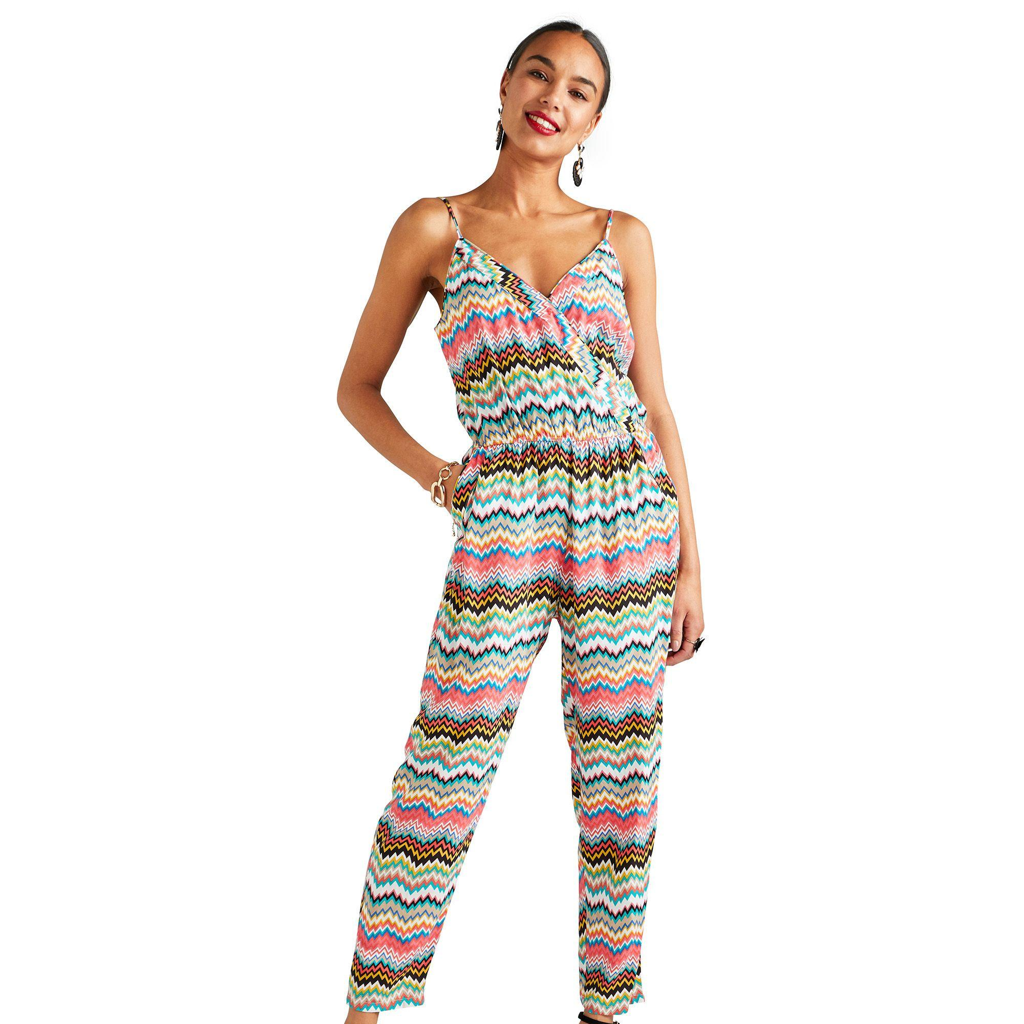 802a6c7620 Yumi . Women s Multicoloured Zigzag Print Jumpsuit
