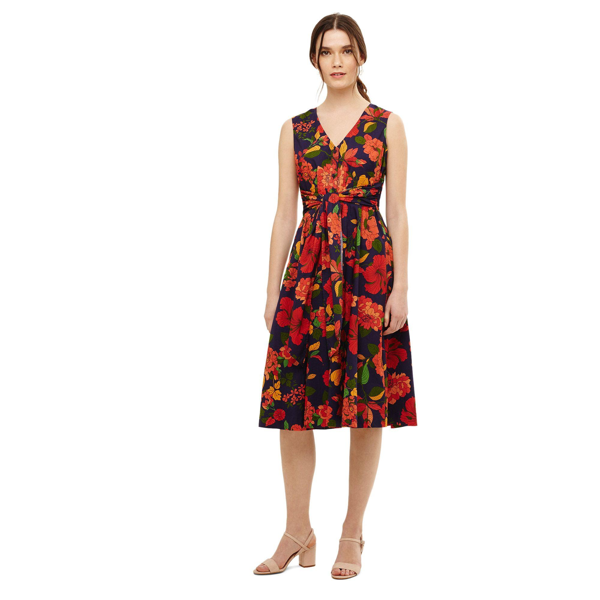 6f40aedd95 Phase Eight. Women s Blue Navy Multi-coloured Cilla Floral Fit And Flare  Dress