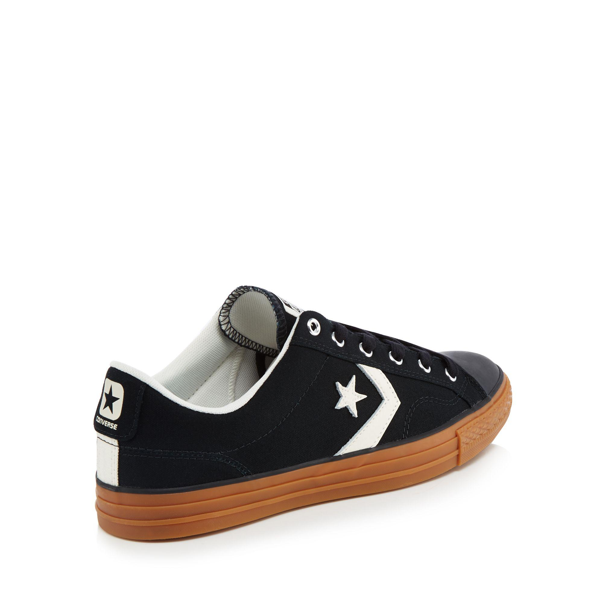ef4258f576510a Converse - Black Canvas  star Player  Lace Up Trainers for Men - Lyst. View  fullscreen