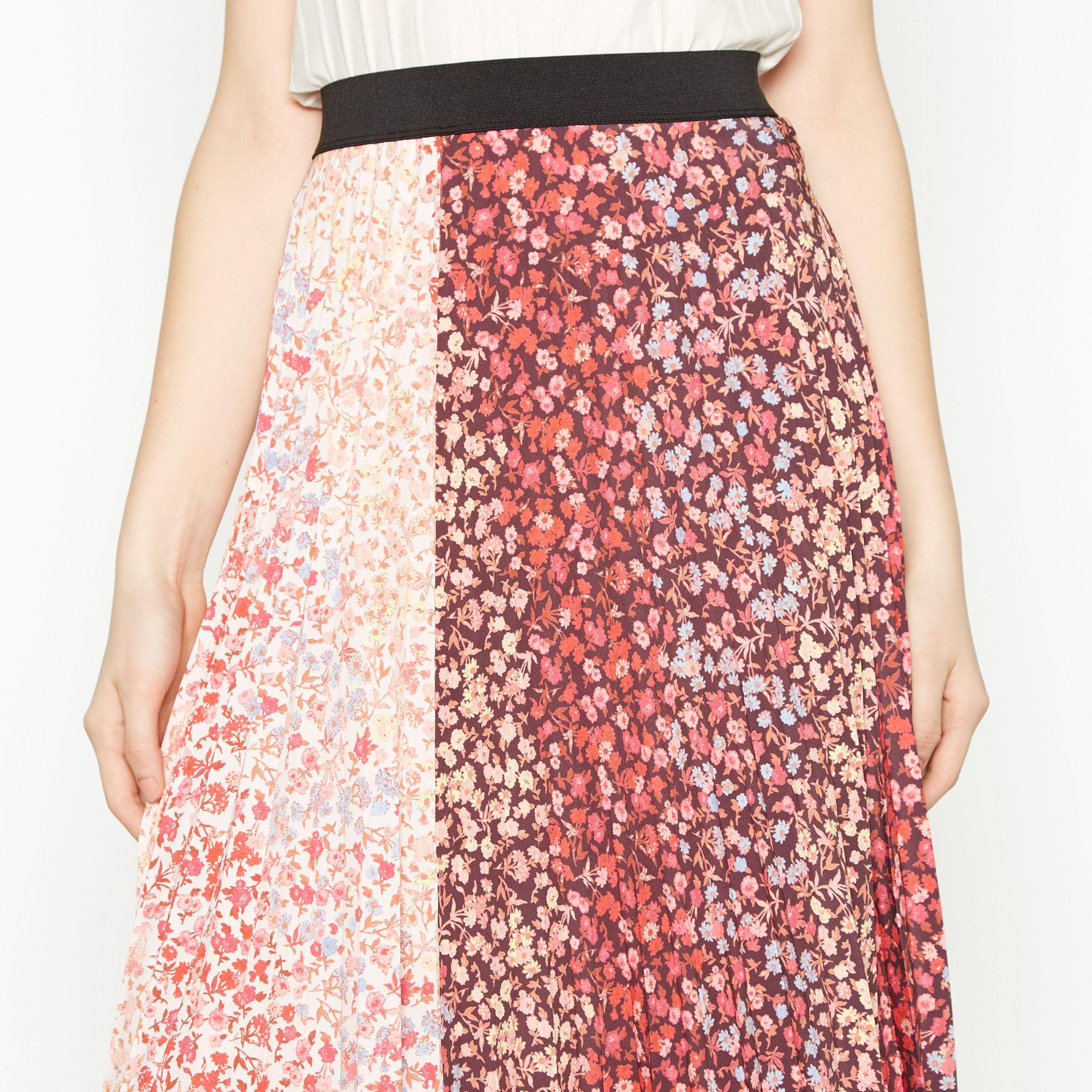 e1a4ed7c6 Red Herring - Multicoloured Floral Print Pleated Midi Skirt - Lyst. View  fullscreen