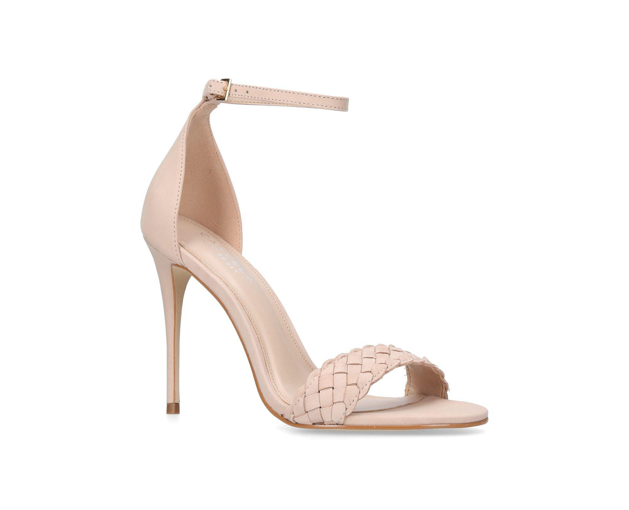 4dfd4a7ea261 Carvela Kurt Geiger Nude  glimpse  Ankle Strap Sandals in Brown - Lyst