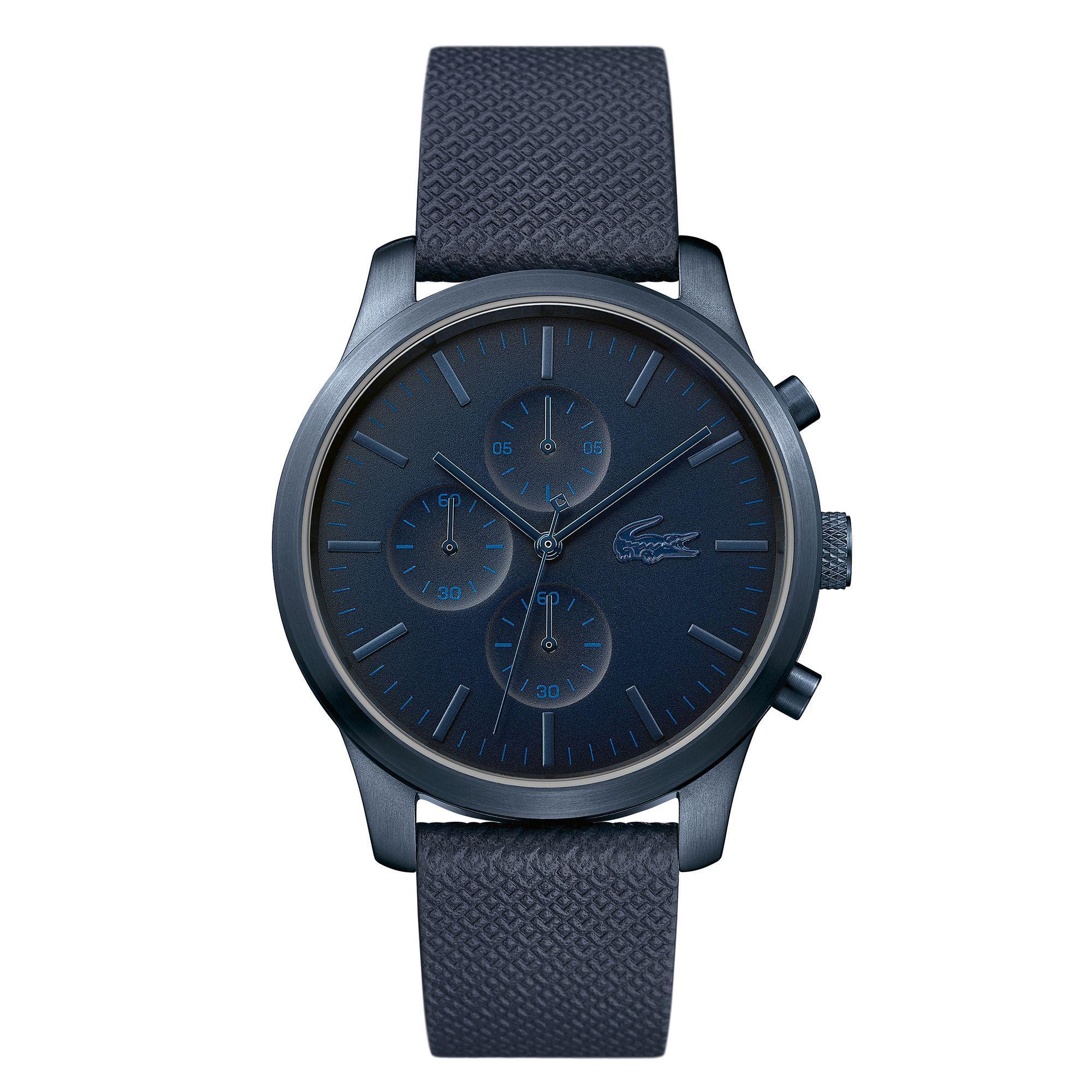 Lacoste. Men's Blue 'l.12.12' Chronograph Strap Watch
