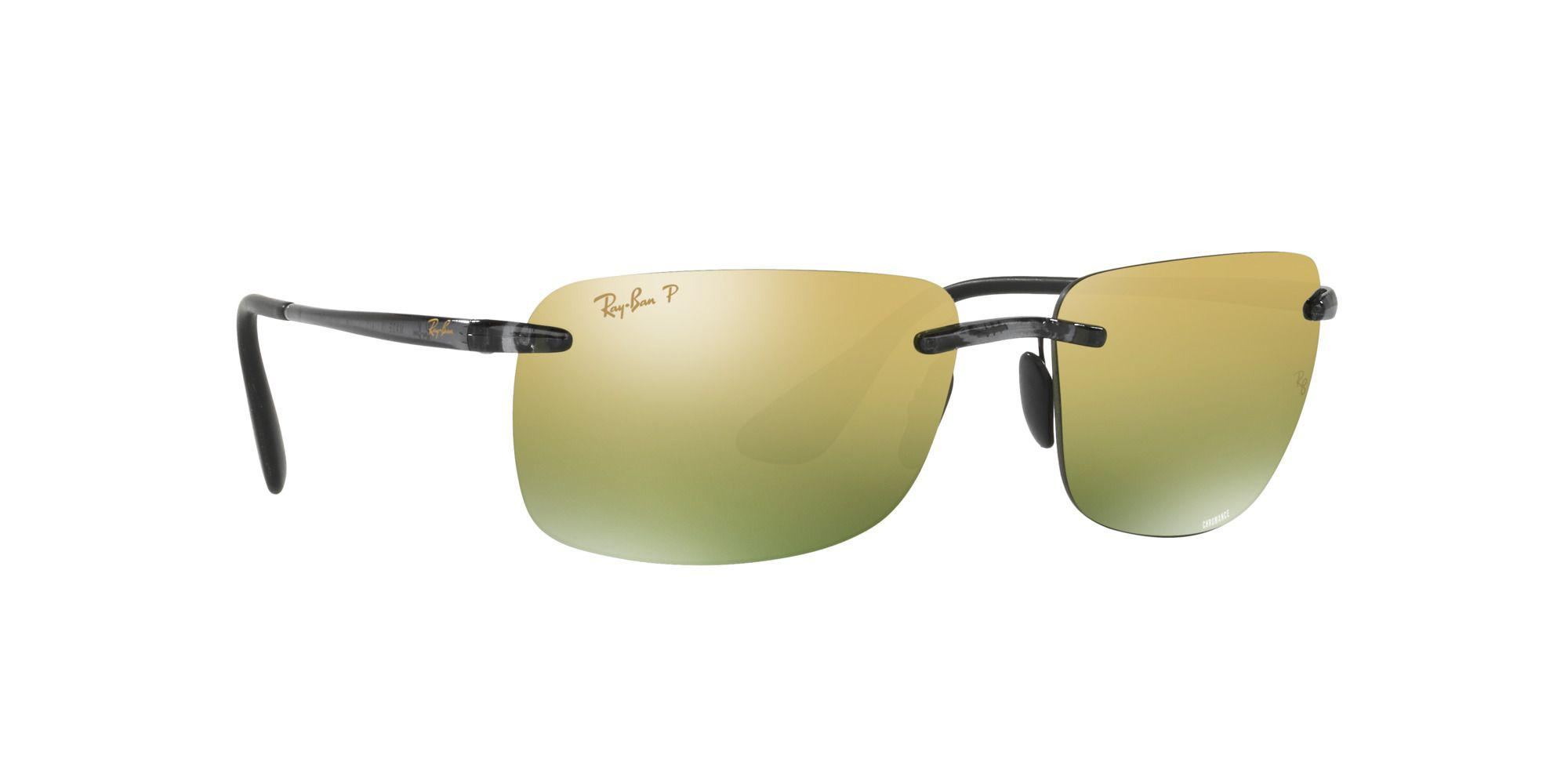 b632bd7dd81 Ray-Ban Shiny Grey Rb4255 Square Sunglasses in Gray for Men - Lyst