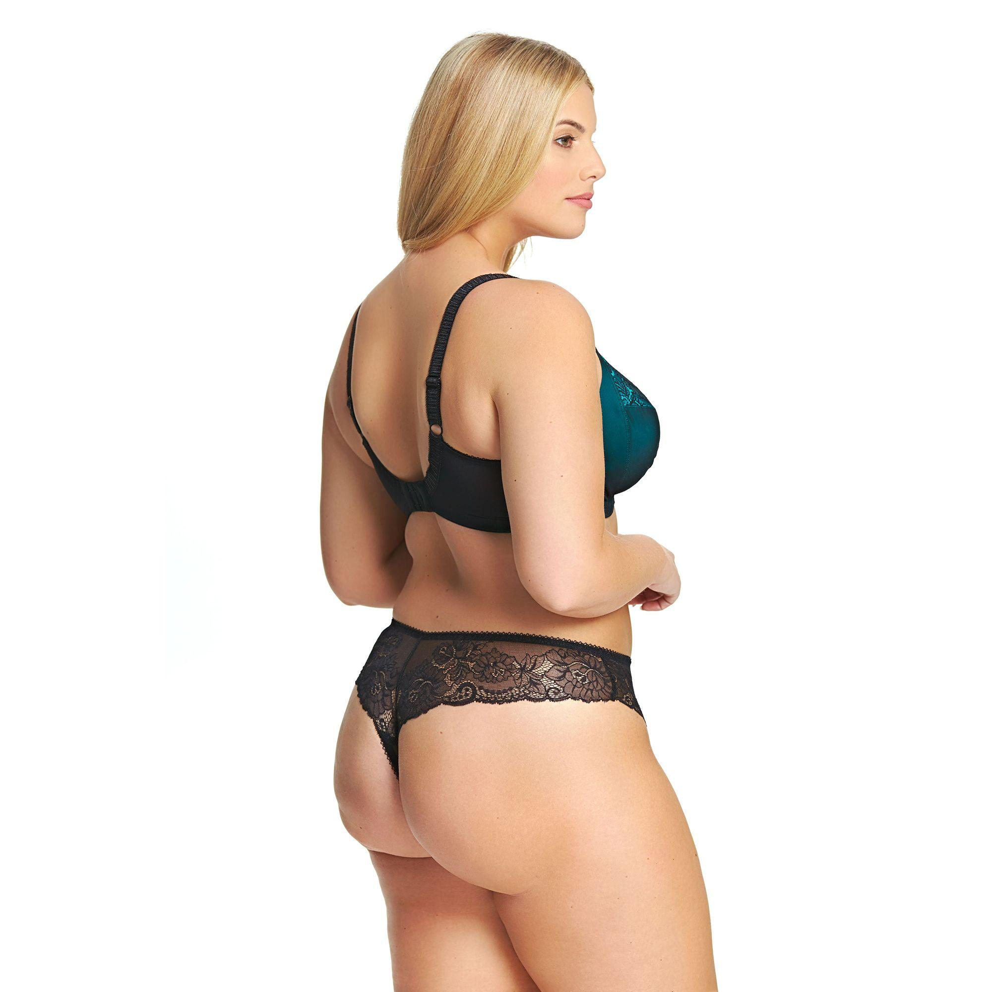 d886596f257 Elomi Dark Turquoise Lace  anushka  Underwired Non-padded Plunge Bra ...