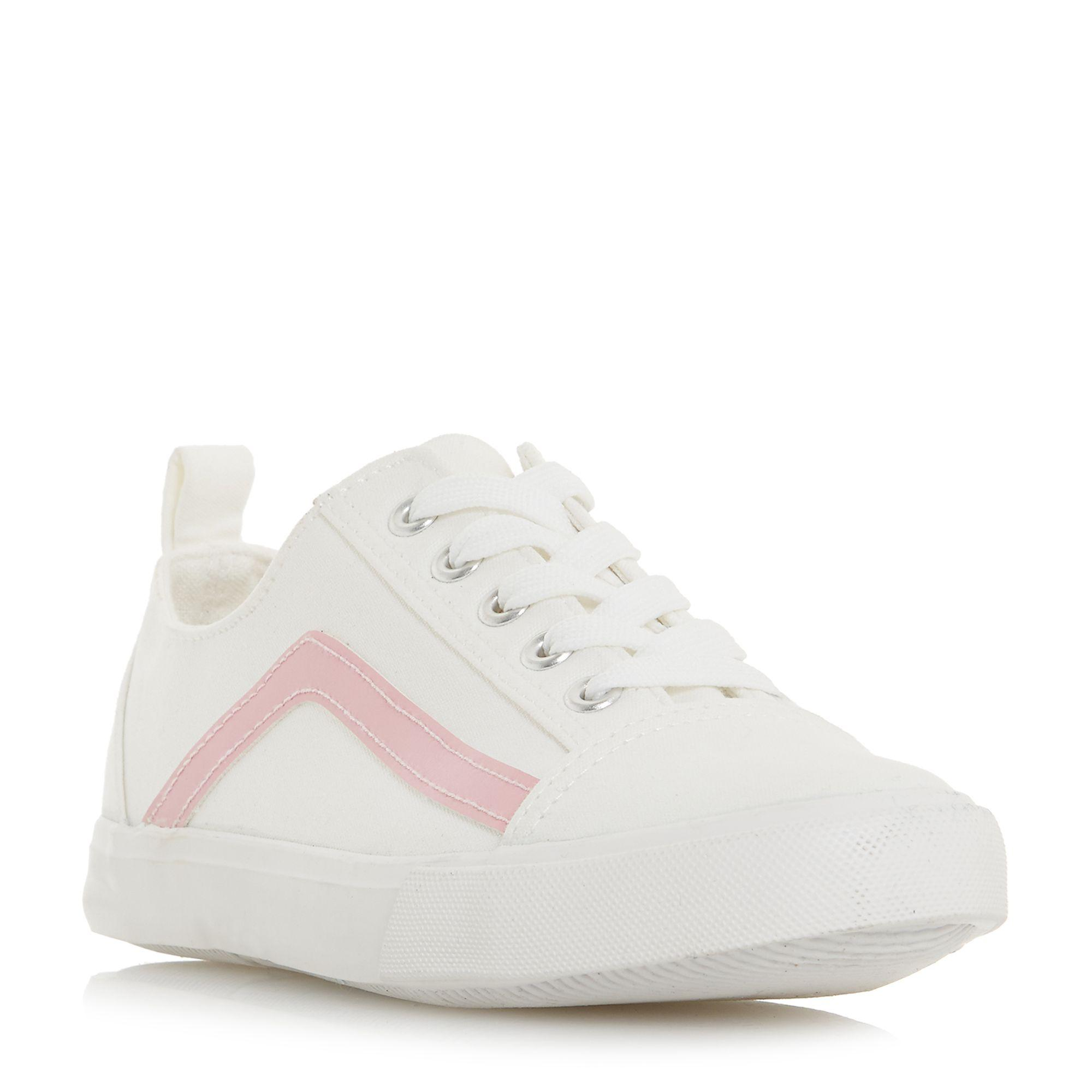 0f0383549d7 Dune White Canvas  elate  Lace Up Trainers in White - Lyst
