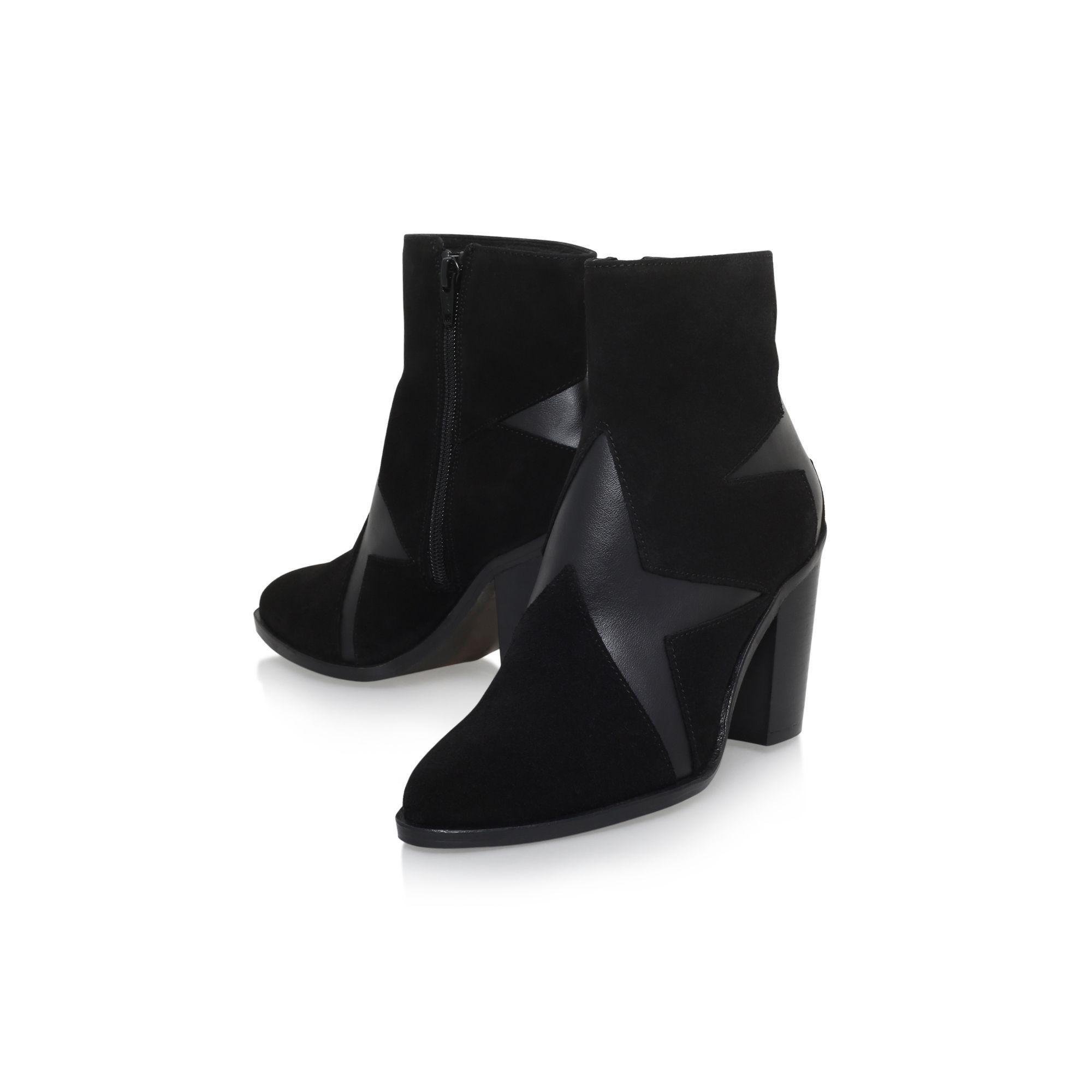 KG by Kurt Geiger Black 'skywalk' High Heel Zip Up Ankle Boot