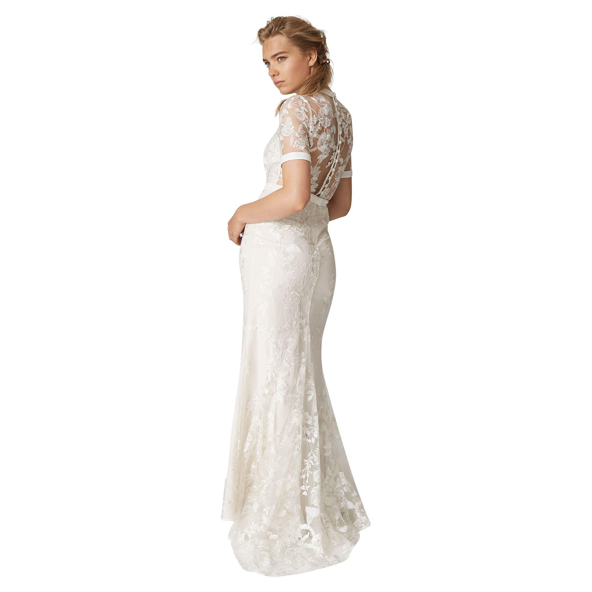 490048d11aedf Phase Eight - Natural Poppy Embroidered Bridal Dress - Lyst. View fullscreen