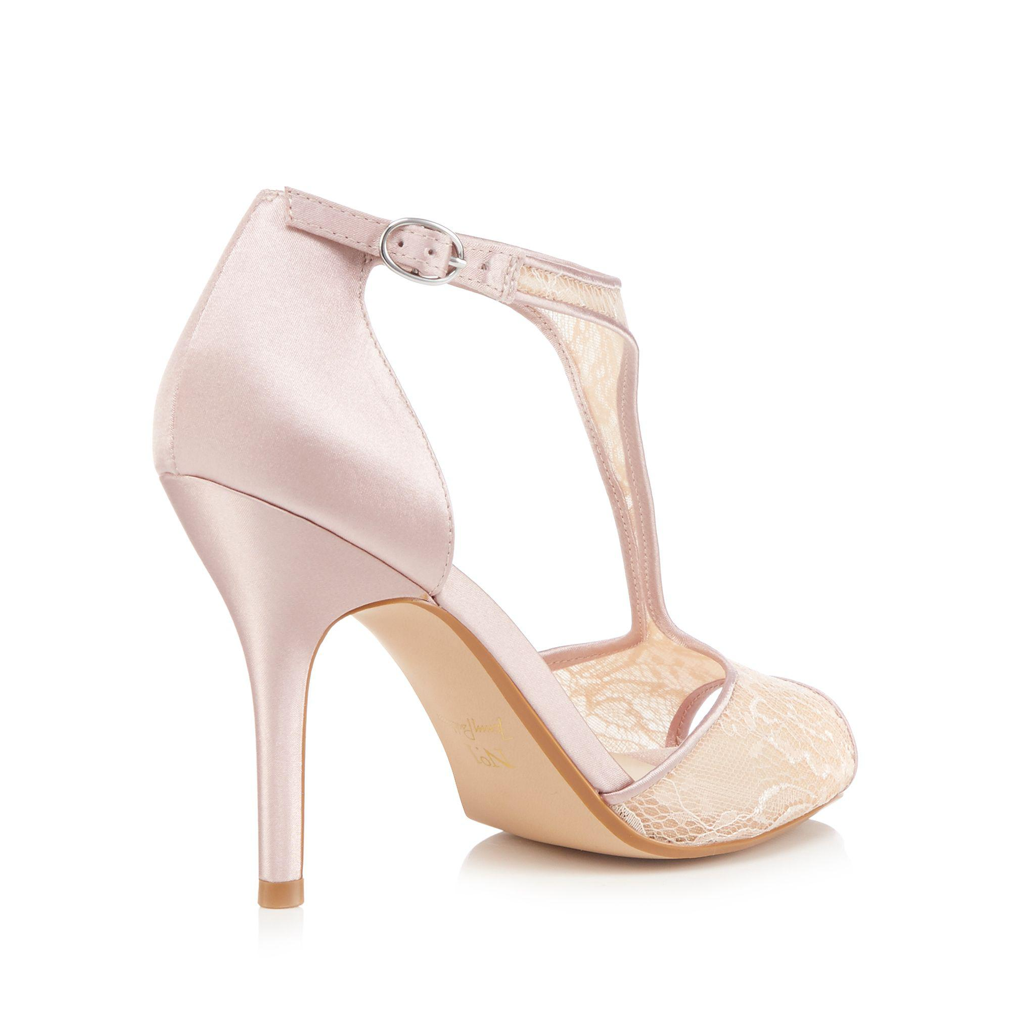 00b15aa2760 Jenny Packham Pink  peri  High Stiletto Heel T-bar Sandals in Pink ...