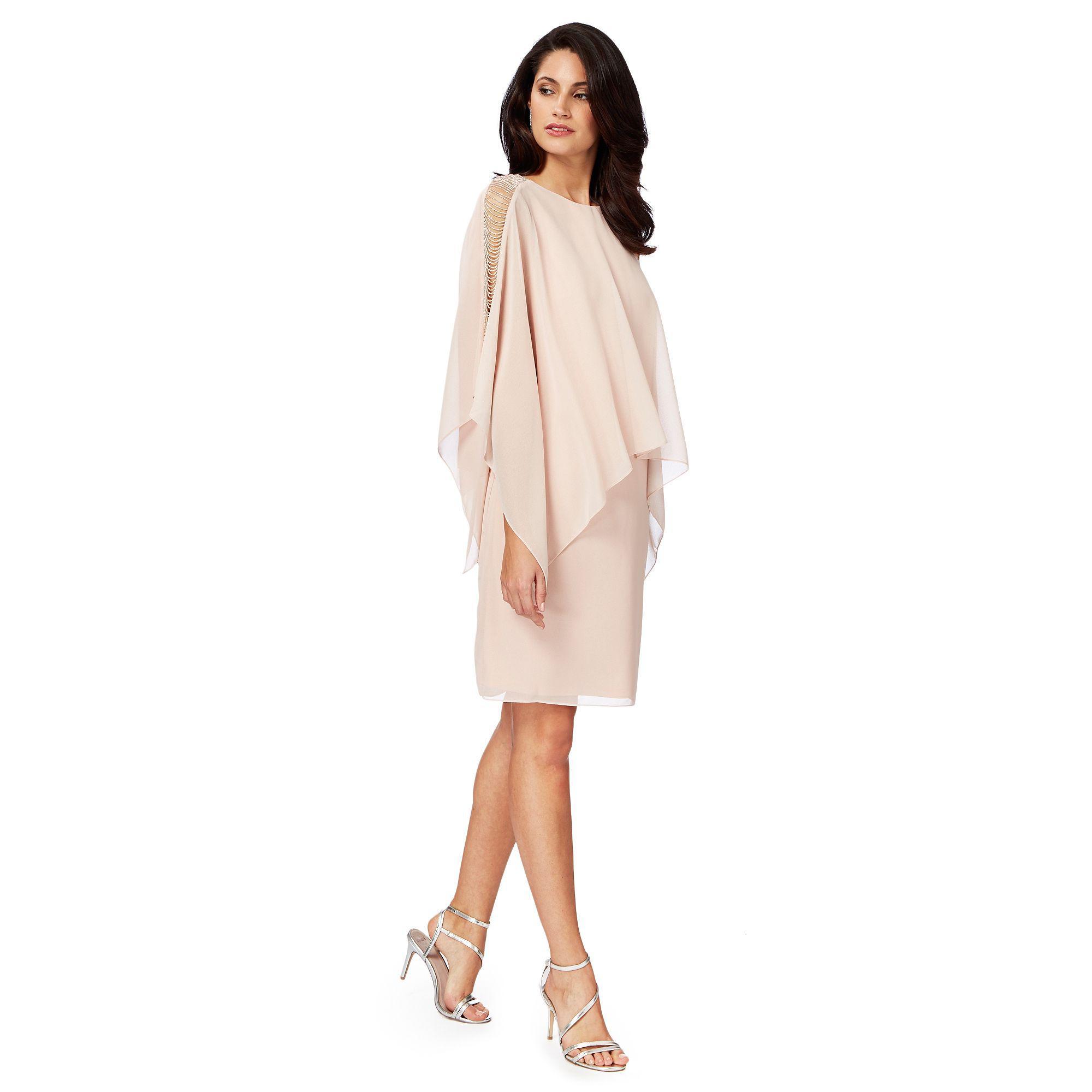 Début Length Sleeveless Round 'thana' Knee Pink Light Neck Shift rOqw0Wr6F