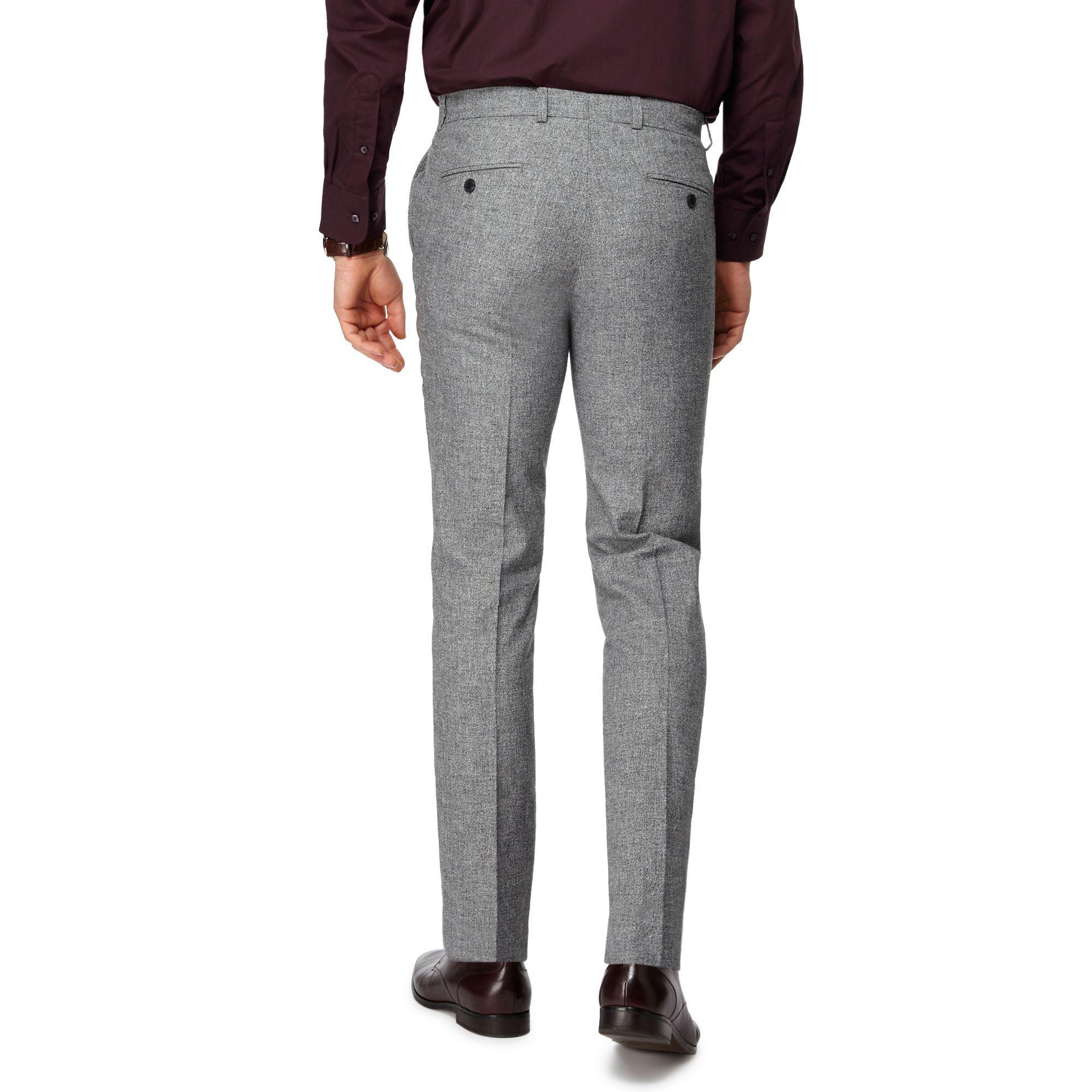 J By Jasper Conran Cotton Grey Smart Trousers in Grey for Men