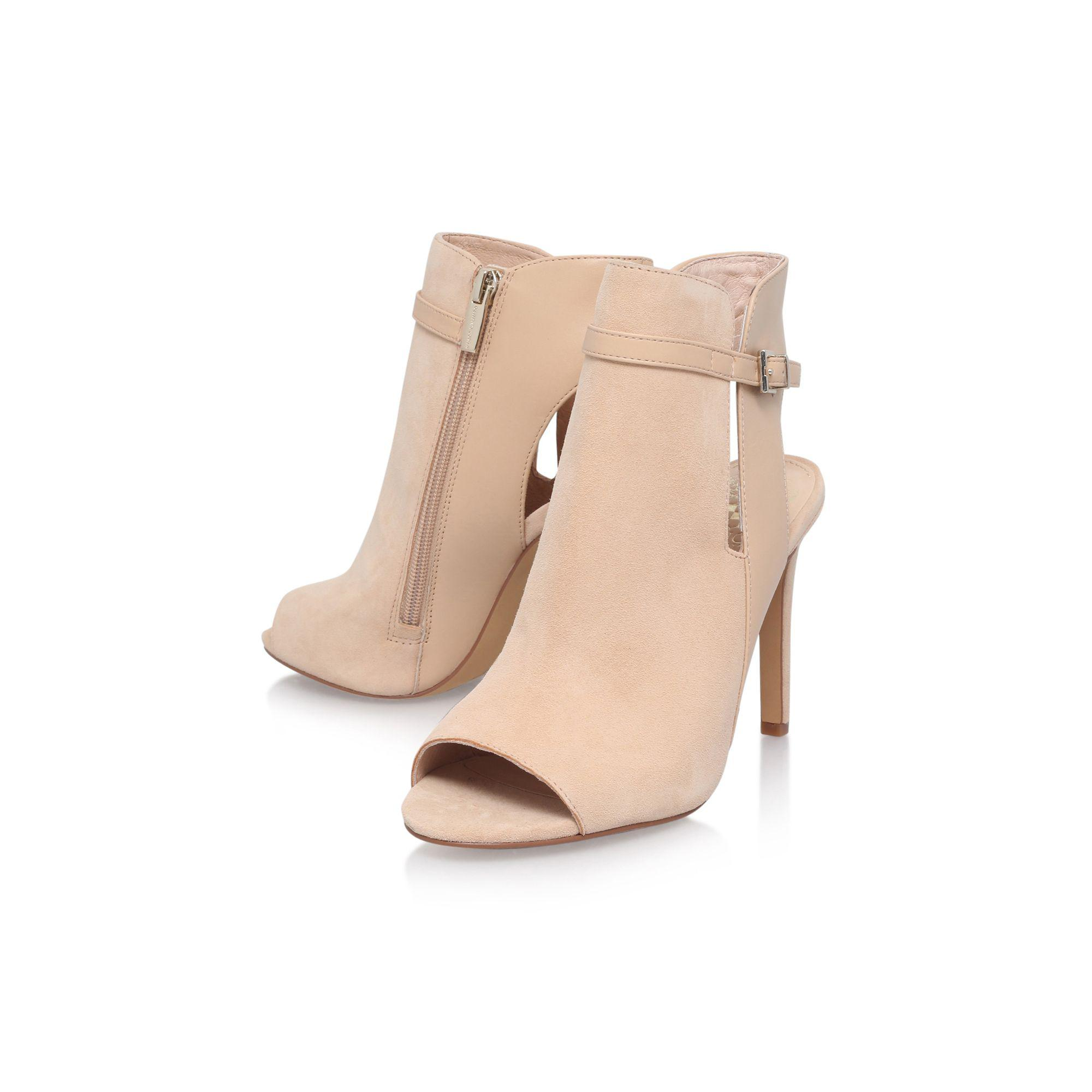 Vince Camuto - Natural 'kiara' High Heel Zip Up Ankle Boot - Lyst. View  Fullscreen