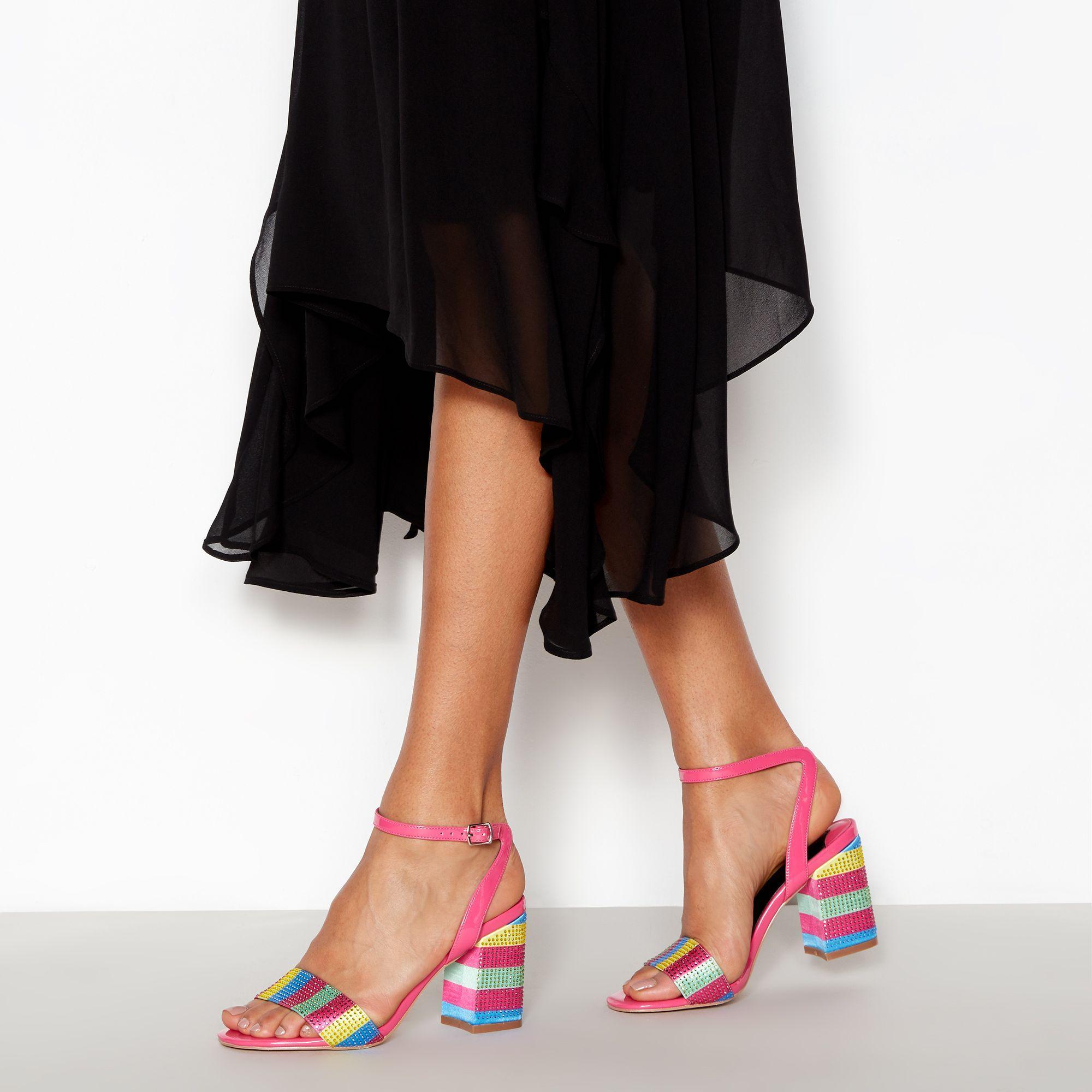 c240f43d3ff Faith. Women s Multi Sequin  dancer  Block Heel Sandals
