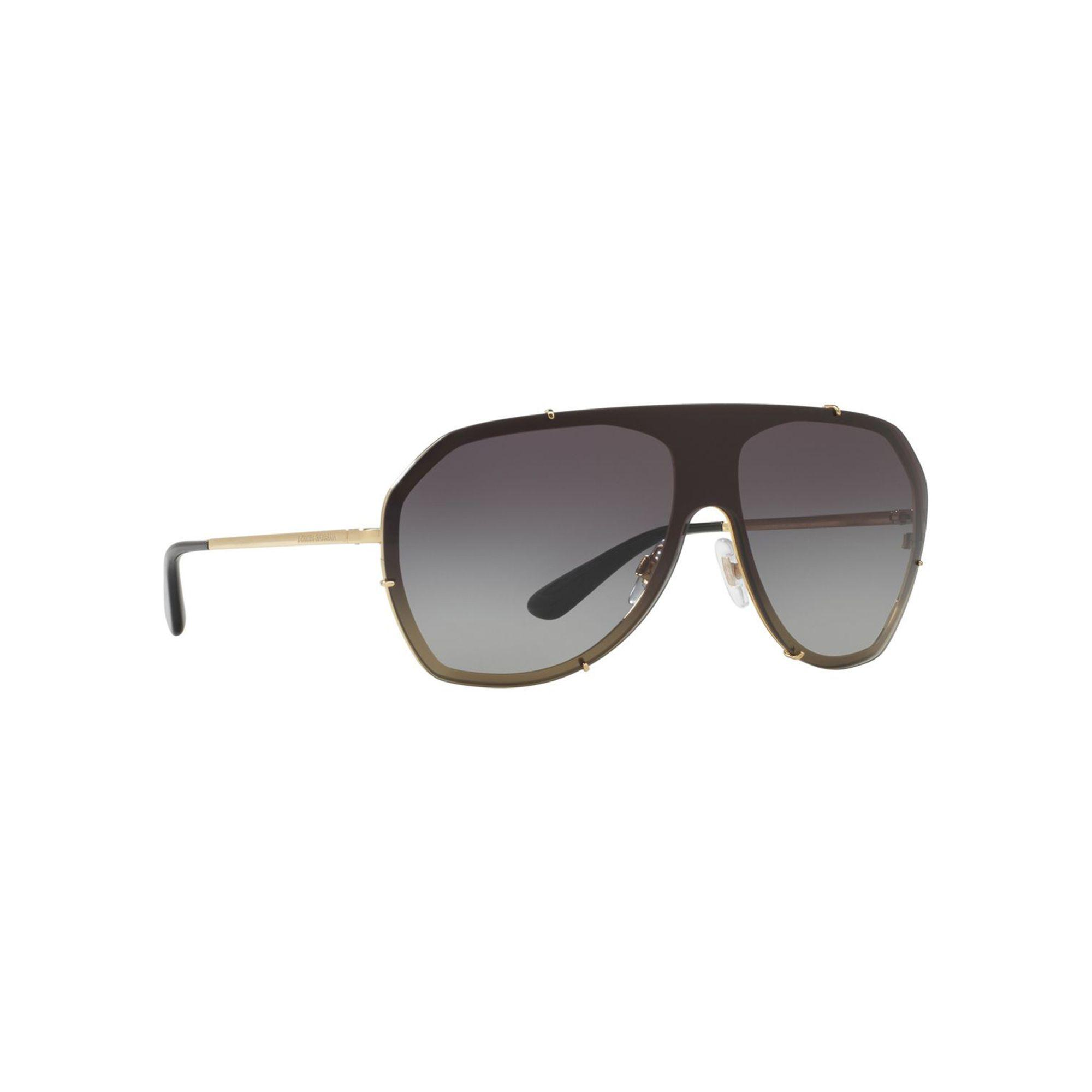 9ba6cddc9cf7 Dolce   Gabbana Gold Dg2162 Pilot Sunglasses in Metallic - Lyst