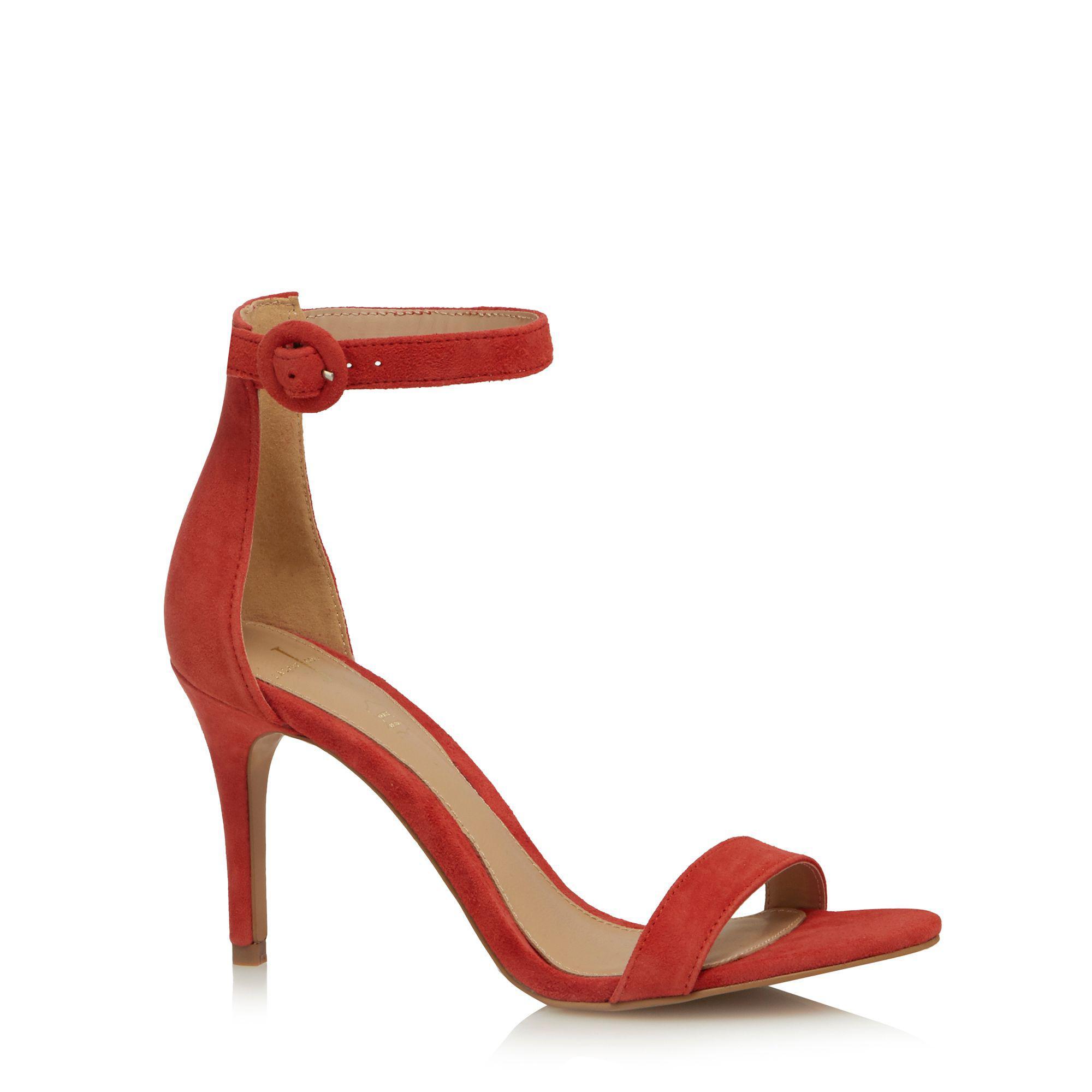 c265270bfb477c J By Jasper Conran Orange Leather  julissa  High Stiletto Heel Ankle ...