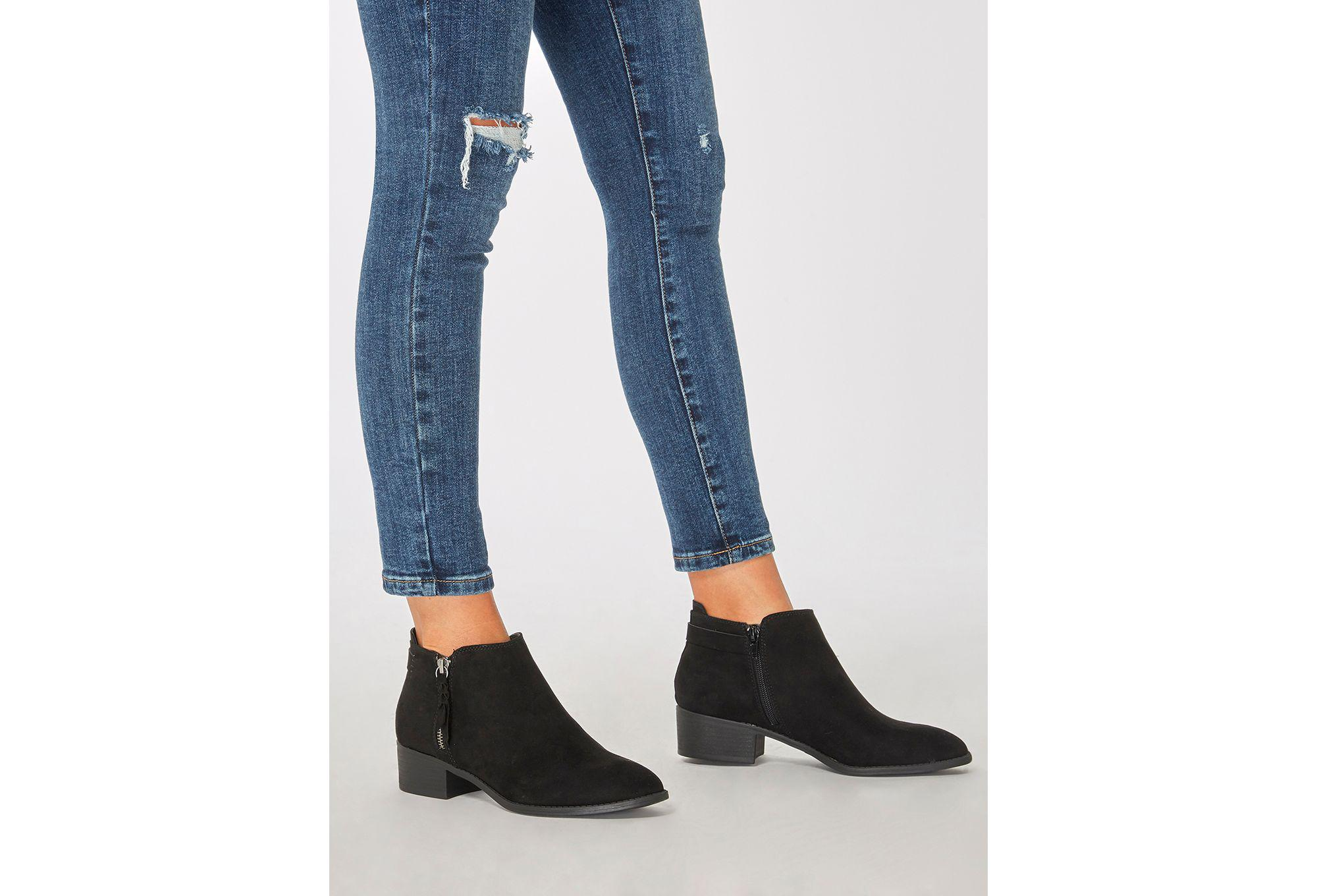 Dorothy Perkins Synthetic Black 'major' Ankle Boots