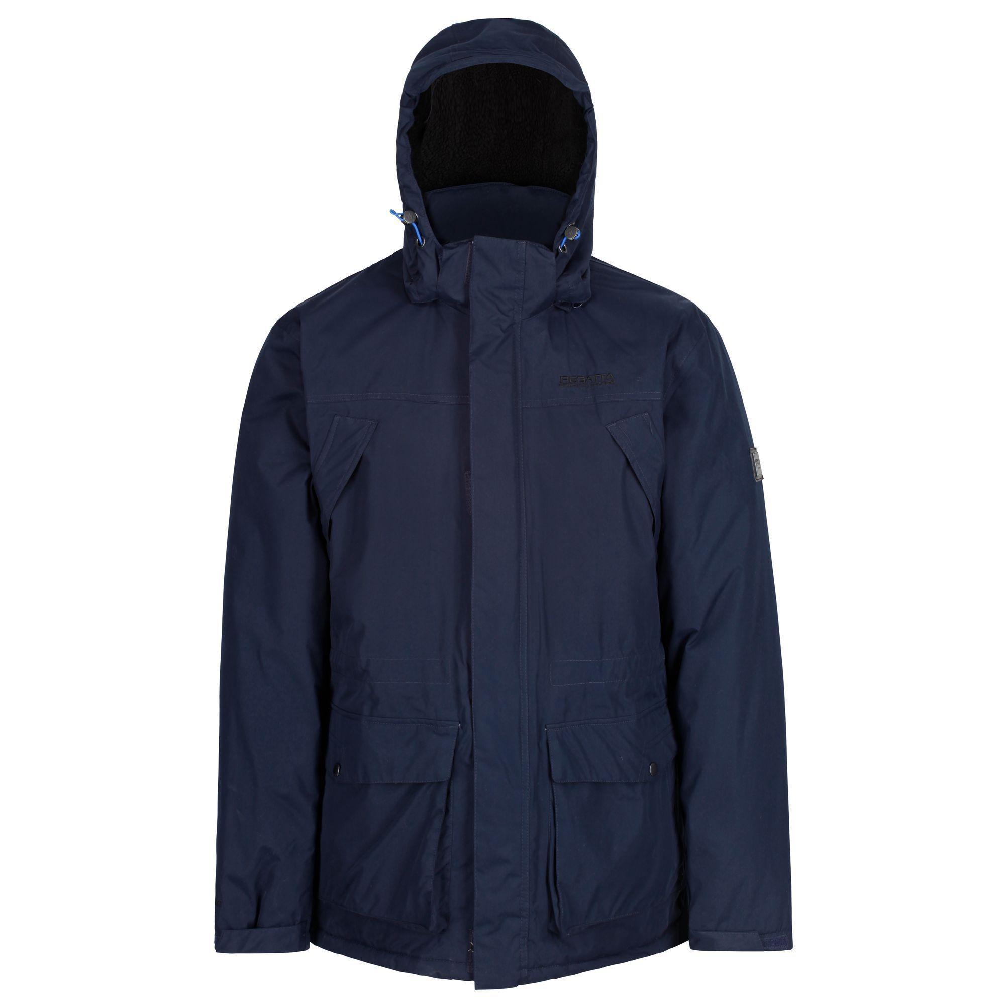 Regatta Fleece 'perran' Insulated Hooded Waterproof Jacket in Blue for Men