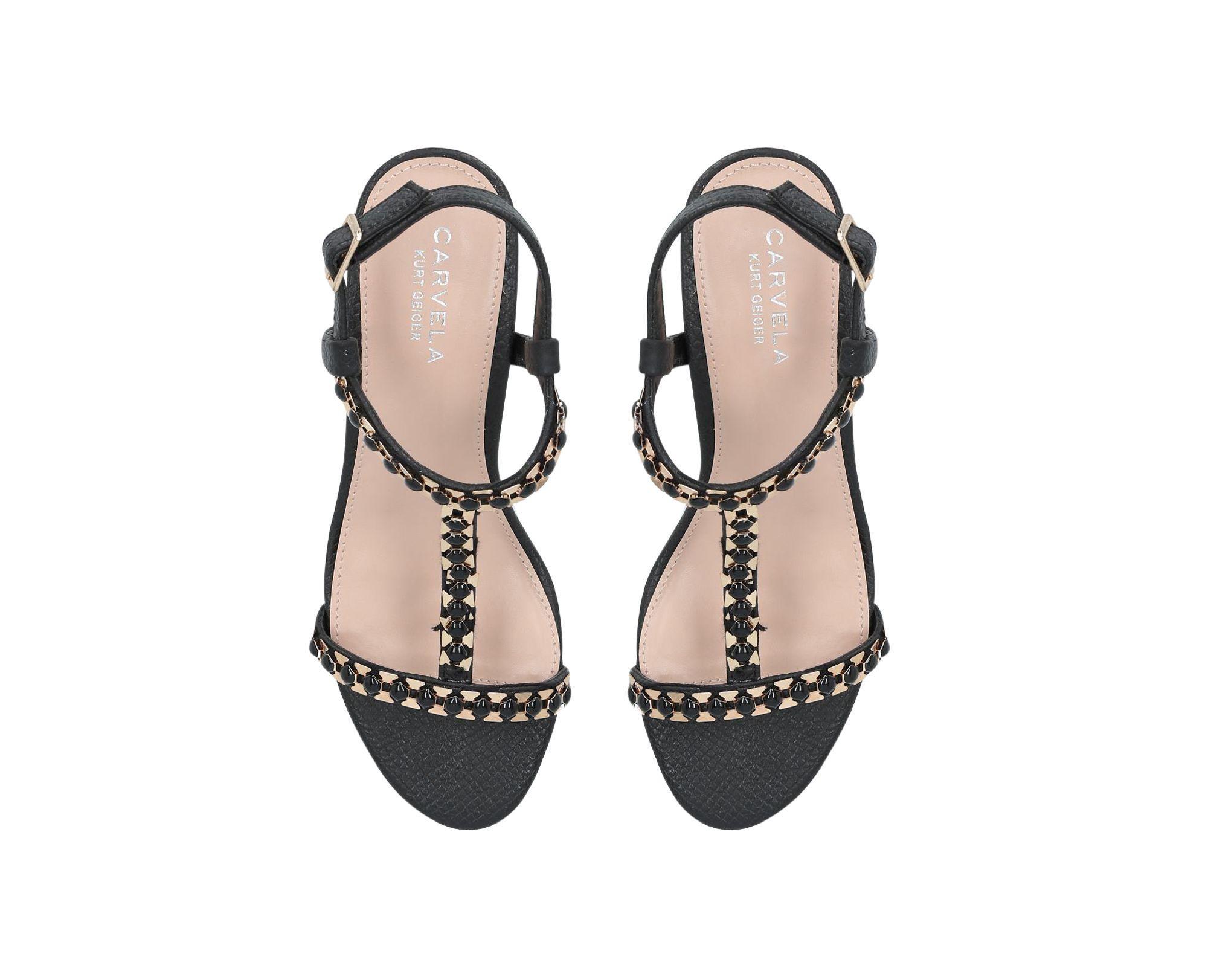 01e00cbc7 Carvela Kurt Geiger 'blazen' Mid Heel Sandals in Black - Save 59% - Lyst