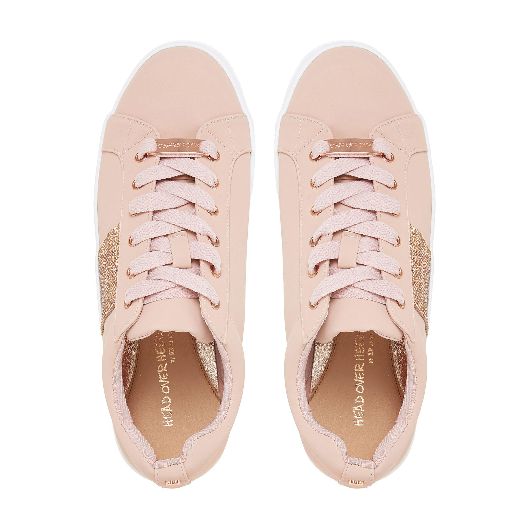 Dune Natural 'embellish' Lace Up Trainers