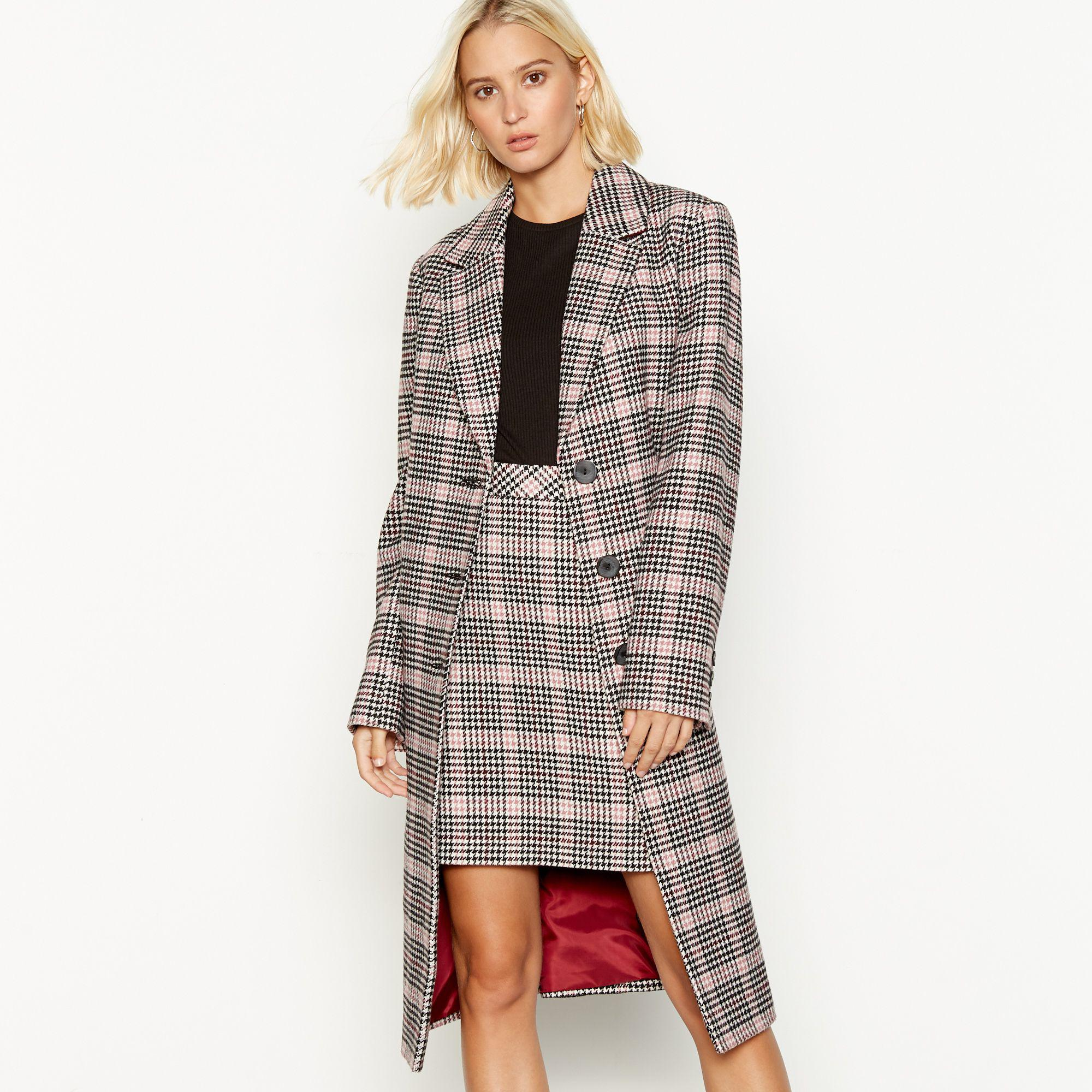 5a4802d2c26b Red Herring Multicoloured Checked City Coat - Lyst