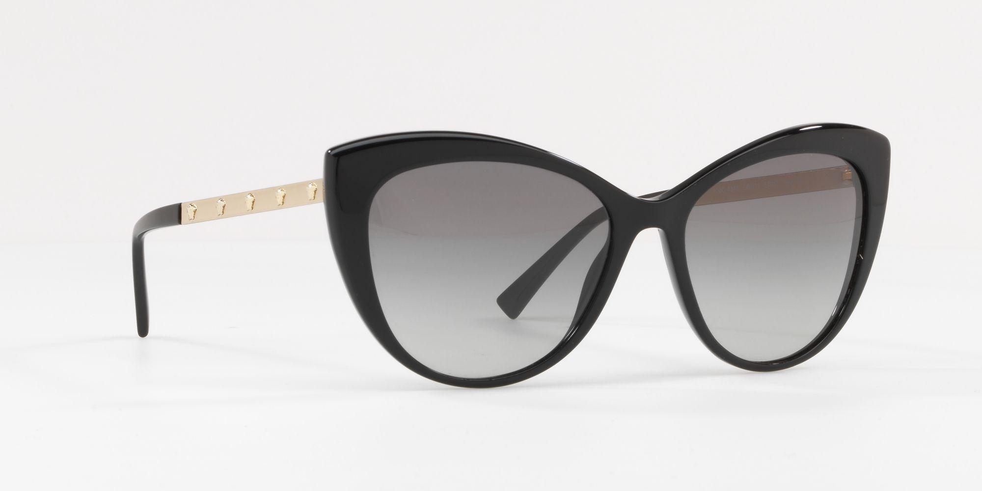 760f49e67c92 Versace Black 0ve4348 Cat Eye Sunglasses in Black - Lyst