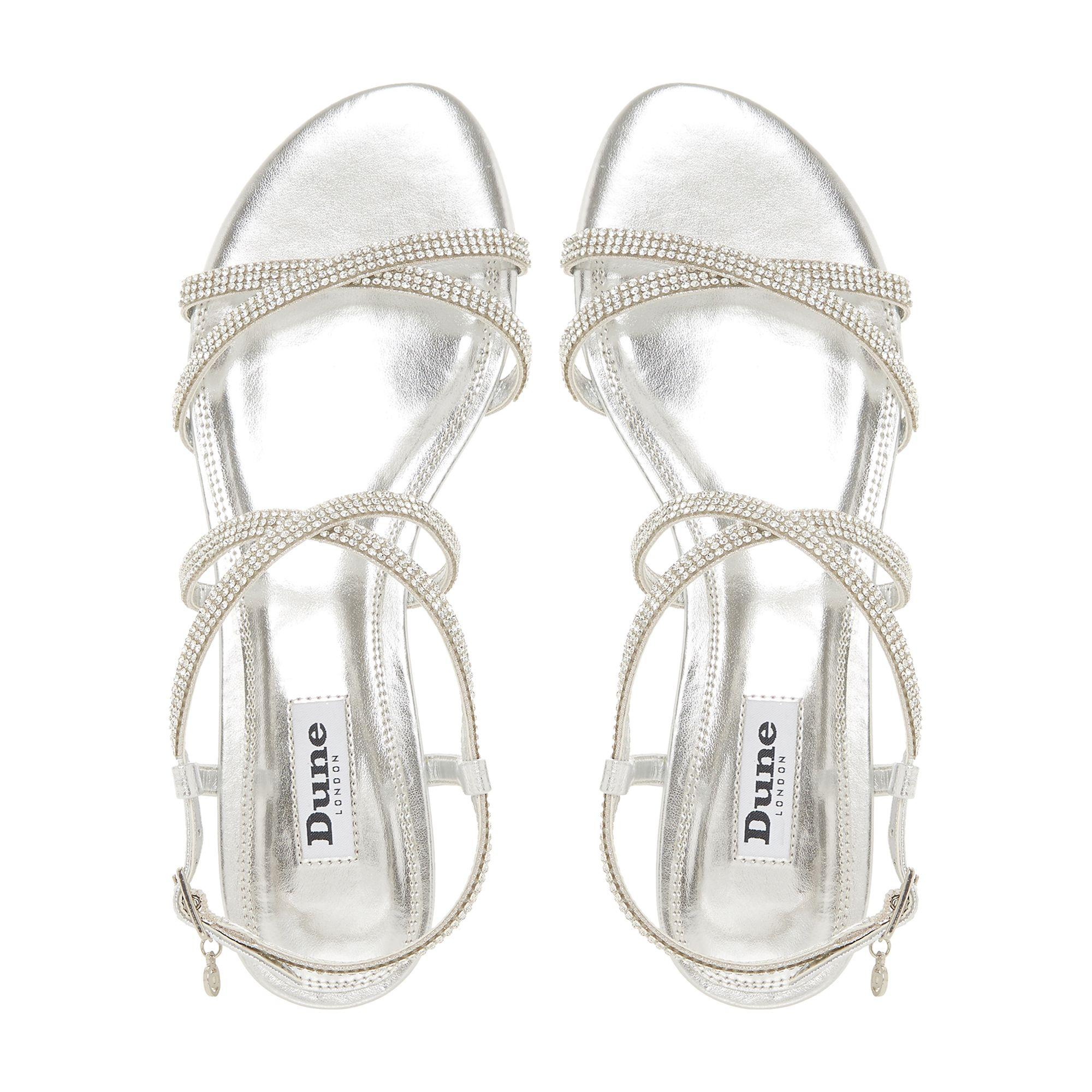 95a1fa57291 ... Silver Leather  neve  Ankle Strap Sandals - Lyst. View fullscreen
