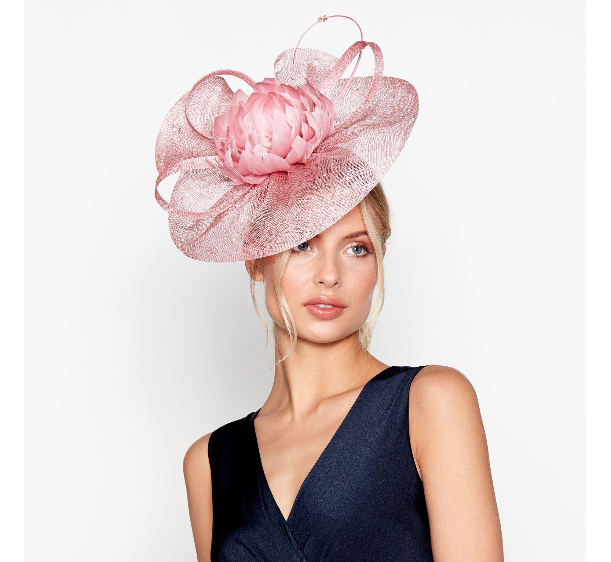 Jenny Packham Pink Flower Feather Fascinator In Pink Lyst