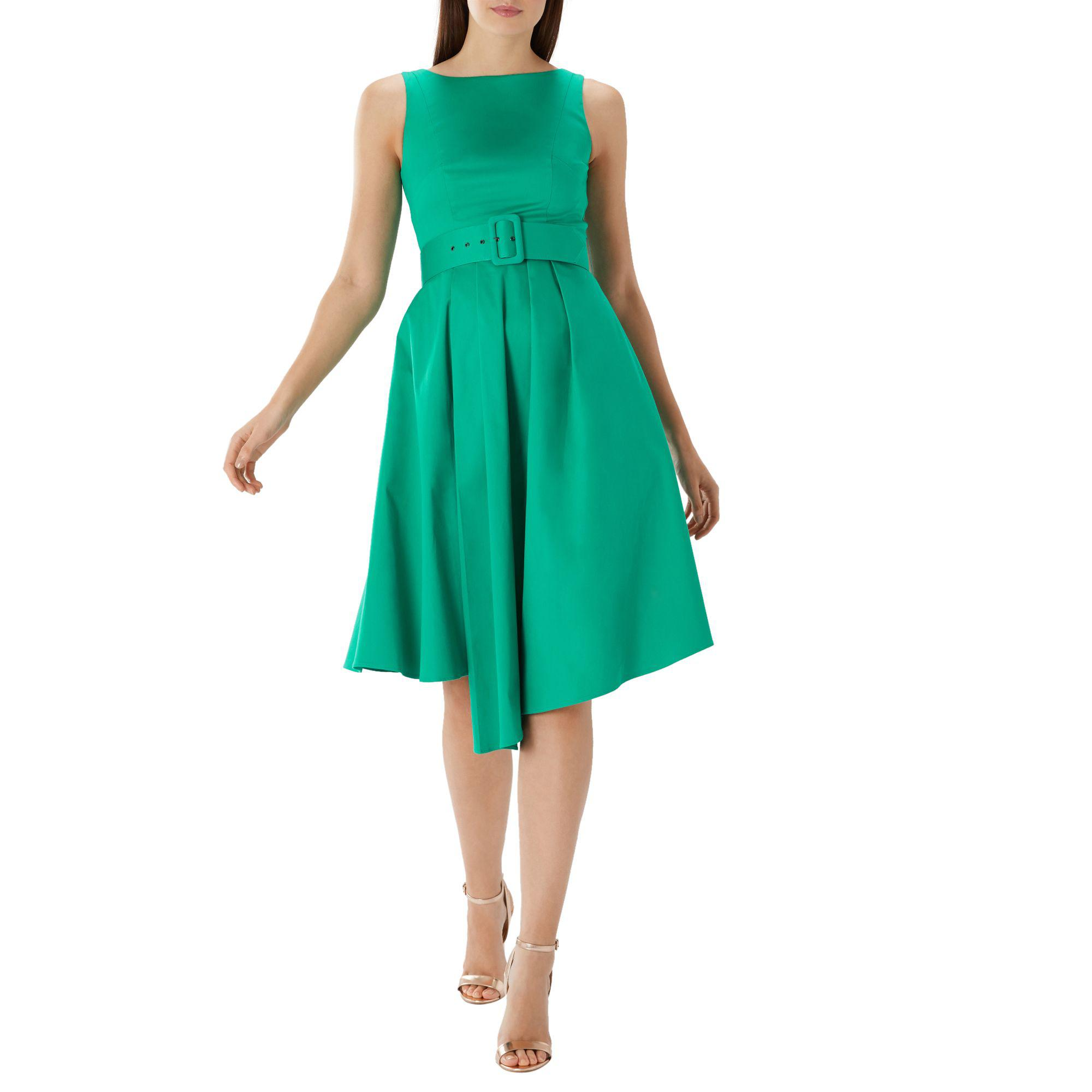 27b805202bca Coast Green 'isabelle' Belted Cotton Dress in Green - Lyst