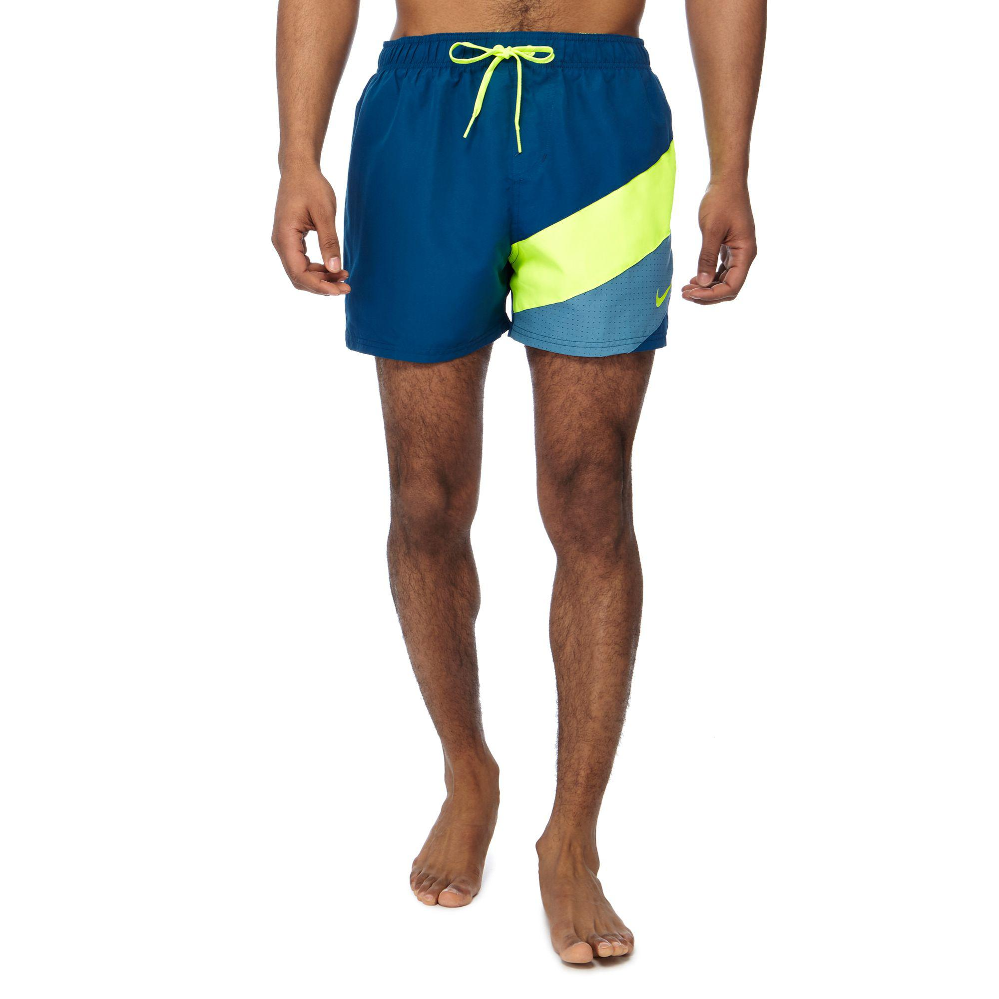 036c0f043a Nike Dark Turquoise Colour Block Swim Shorts in Blue for Men - Lyst