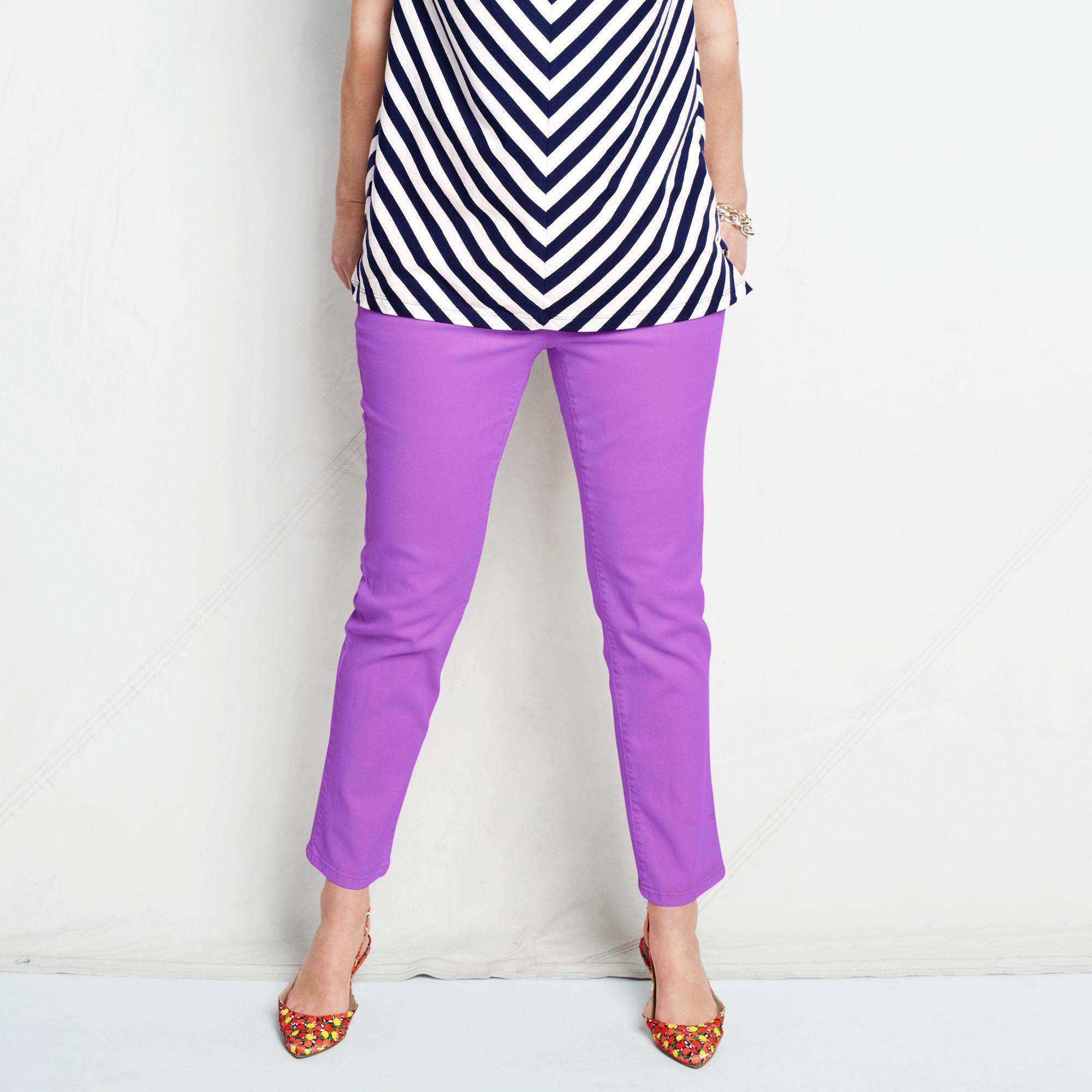 Womens Plus Coloured Low Rise Slim Ankle Jeans - 20 - PURPLE Lands End iq8WTl