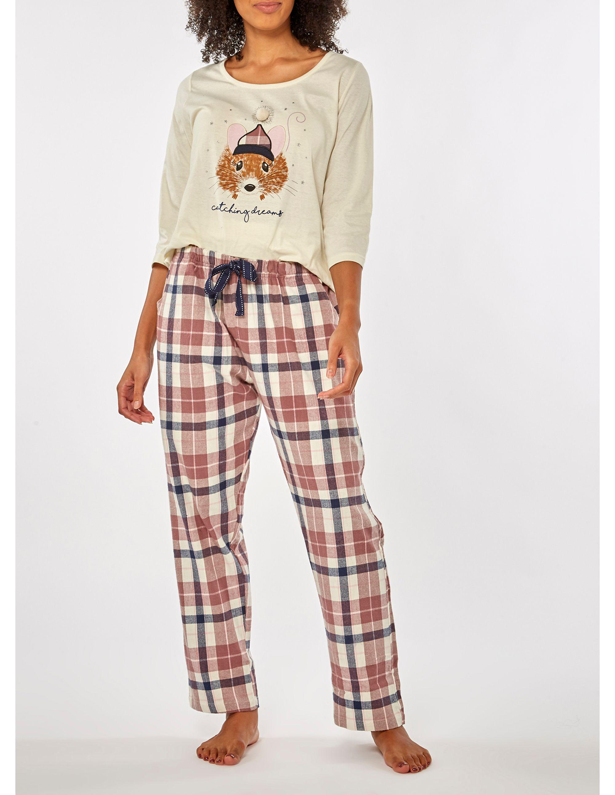 c4cdc00a37 Dorothy Perkins. Women s Natural Oatmeal Catching Dreams Pyjama Set. £20  £10 From Debenhams