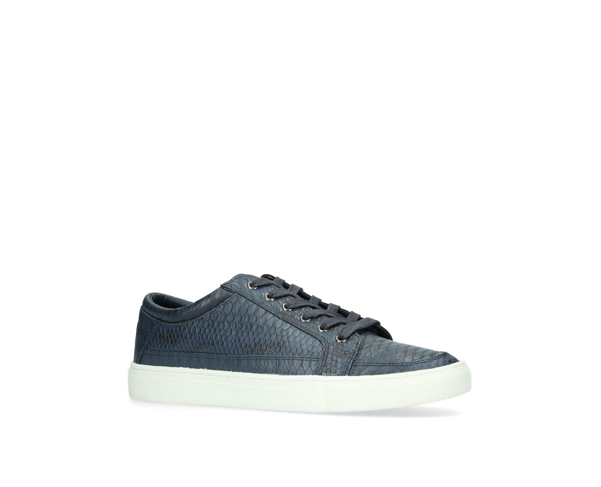 KG by Kurt Geiger Navy 'ripon' Low Top Trainers in Blue for Men
