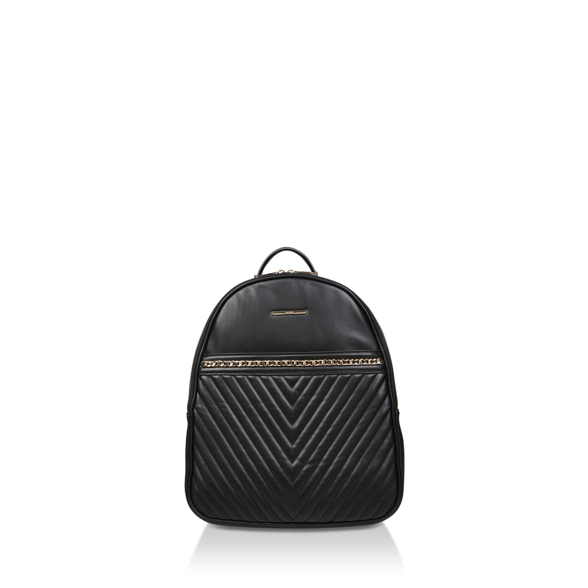 47668f60988 ALDO Black  aielli  Quilted Backpack in Black - Lyst