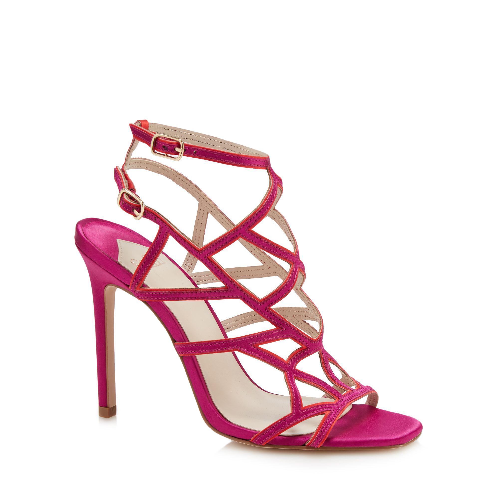 fd771115f660 Faith Pink  latoya  High Stiletto Heel Ankle Strap Sandals in Pink ...