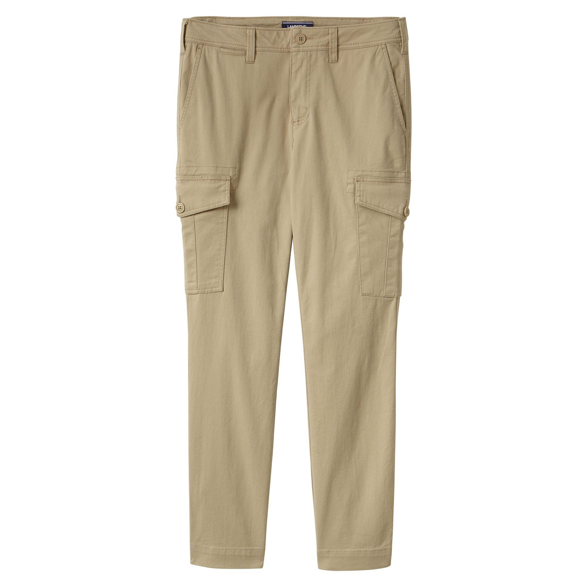 bed9a0437d1 Lands  End Beige Womens Slim Cargo Trousers in Natural - Lyst