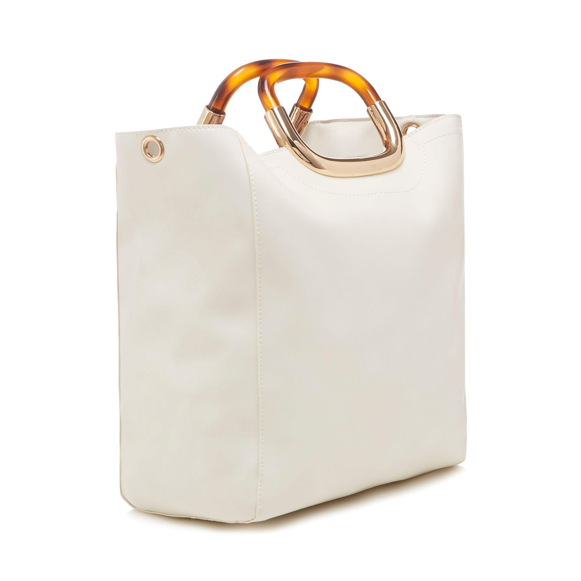 4c69985f76 Faith White Tortoiseshell Handle Grab Bag in White - Lyst