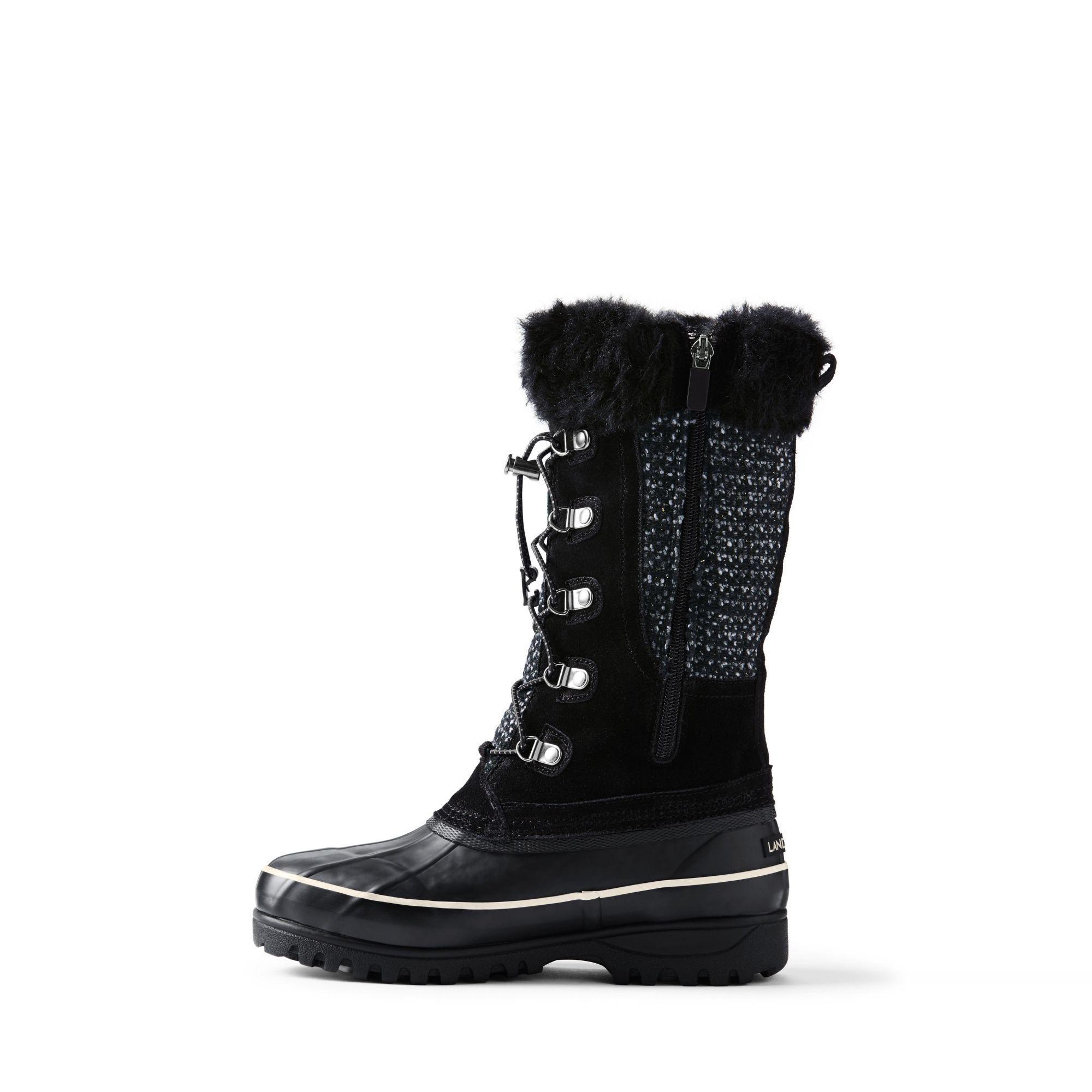 Lands' End Black Alpine Snow Boots
